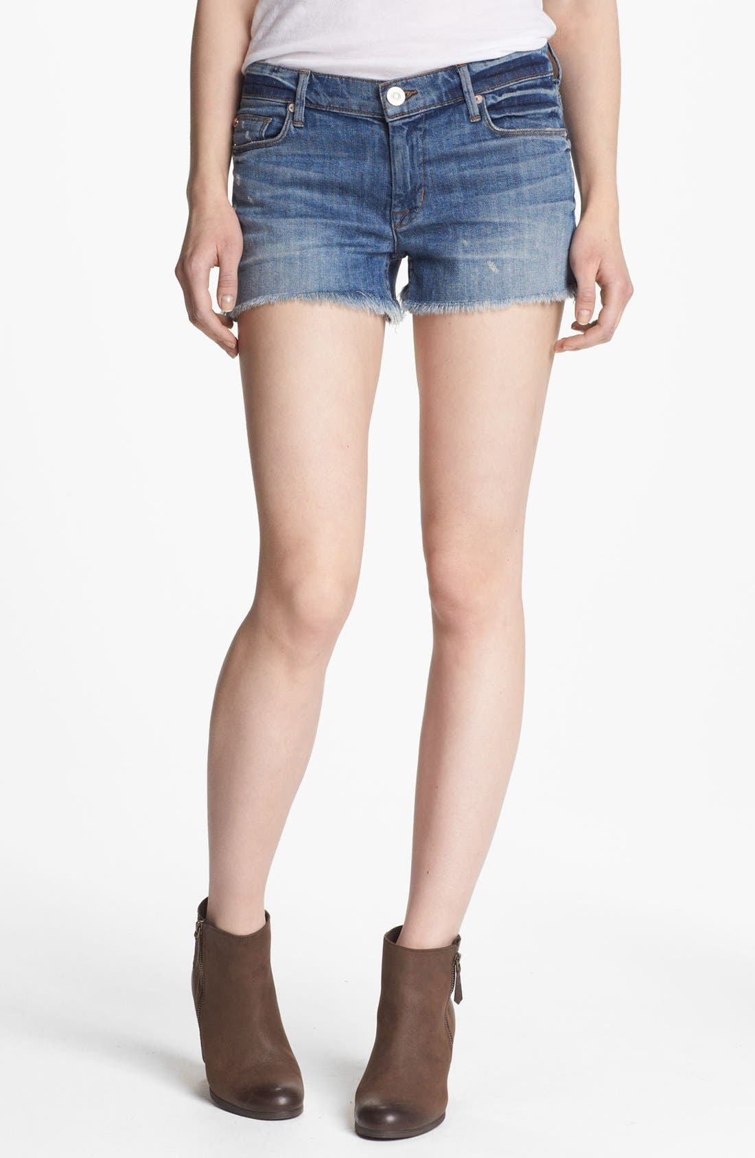 Main Image - Hudson Jeans 'Amber' Raw Edge Denim Shorts (Indie)
