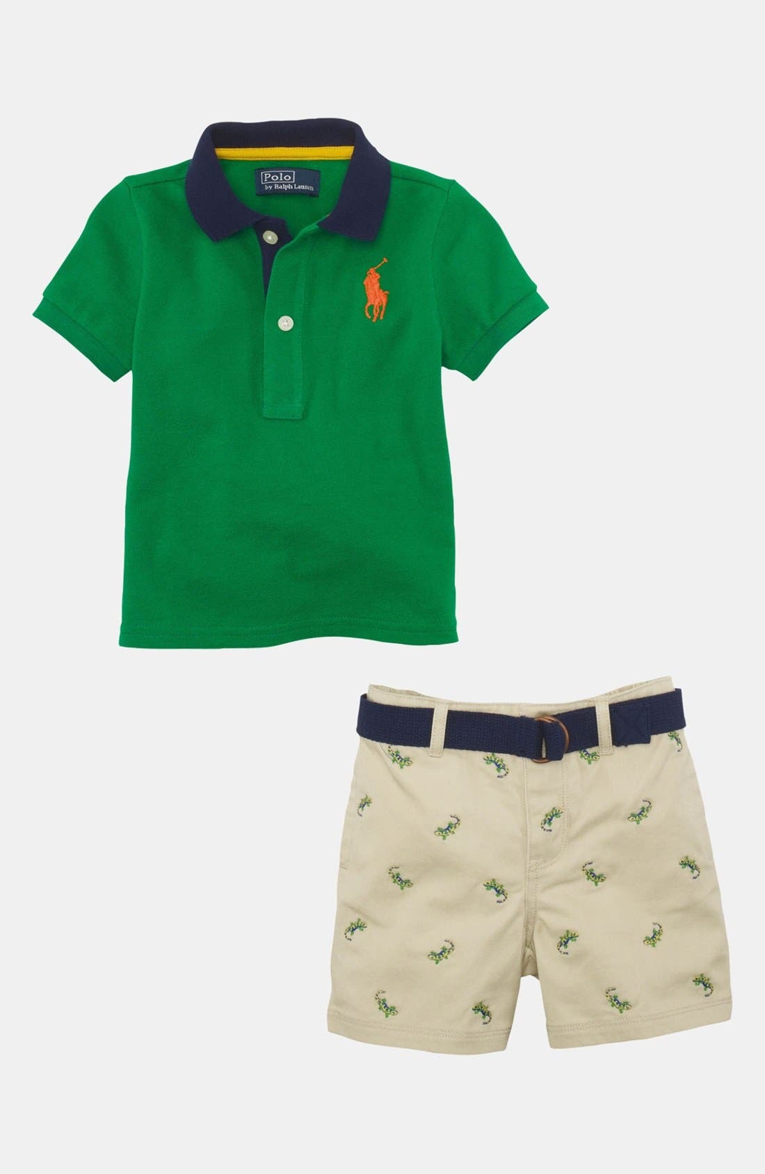 Alternate Image 1 Selected - Ralph Lauren Polo & Shorts (Baby)