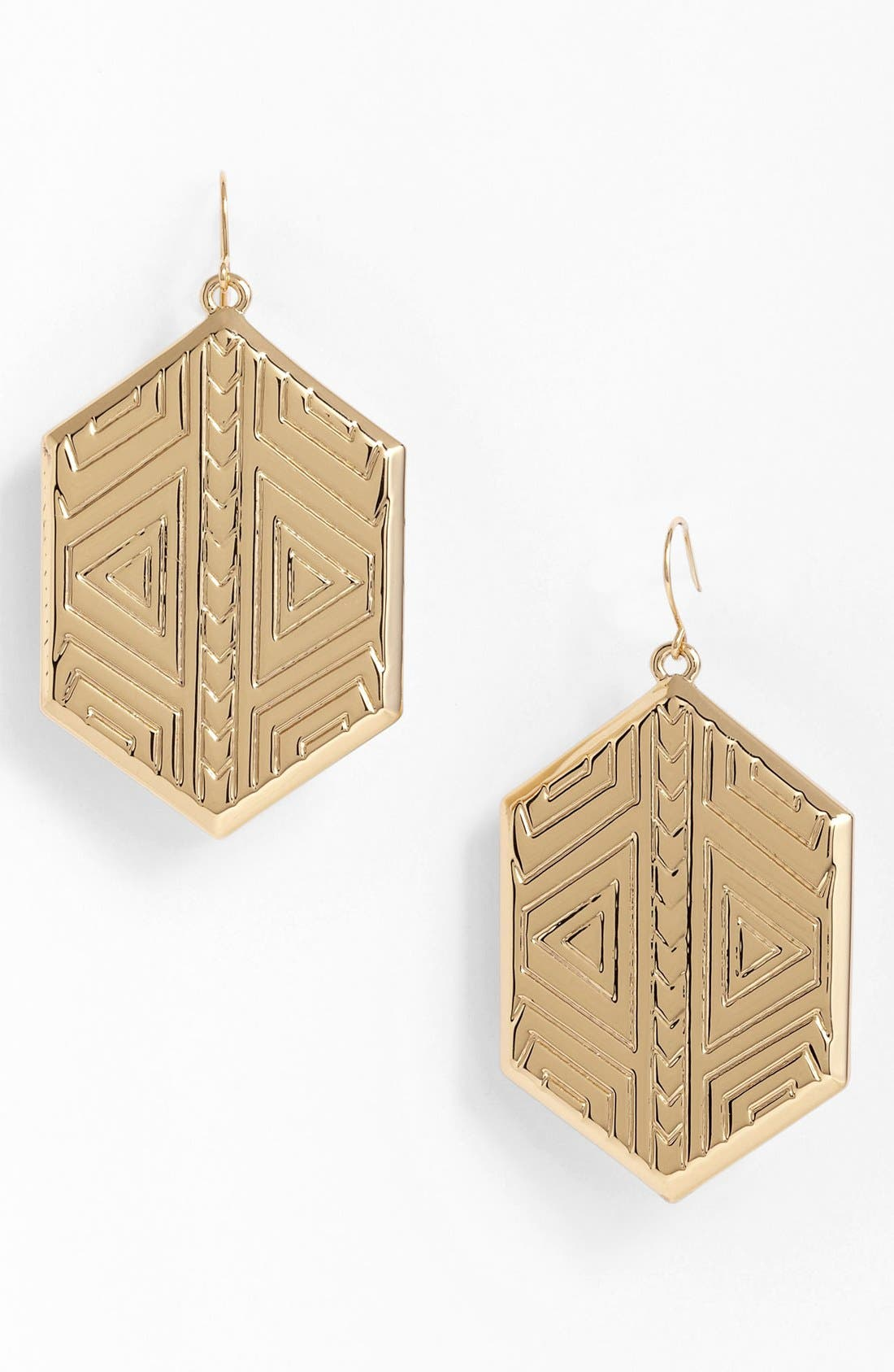 Alternate Image 1 Selected - Vince Camuto 'Tribal Fusion' Shield Drop Earrings