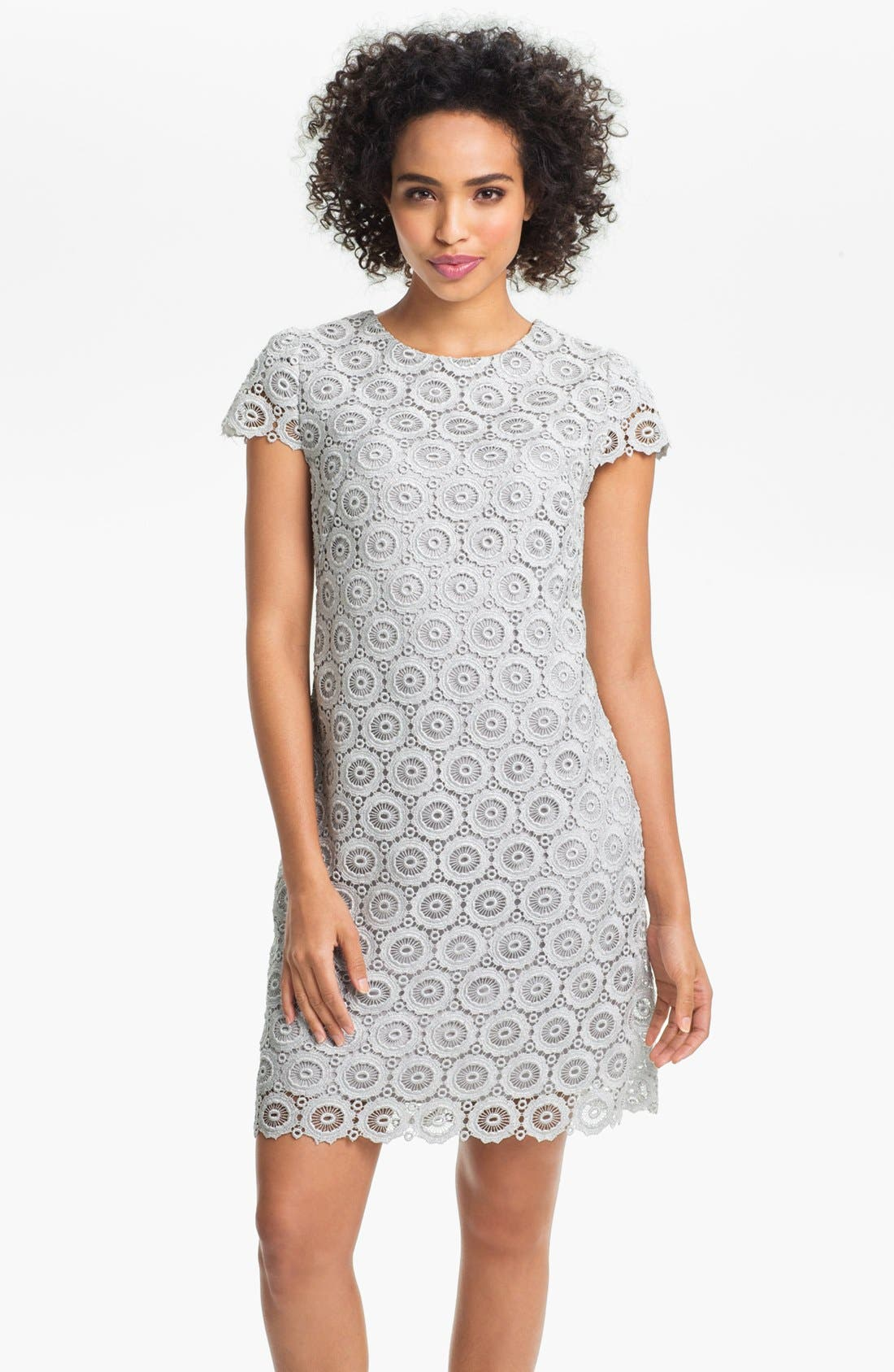 Alternate Image 1 Selected - Suzi Chin for Maggy Boutique Lace Shift Dress (Petite)
