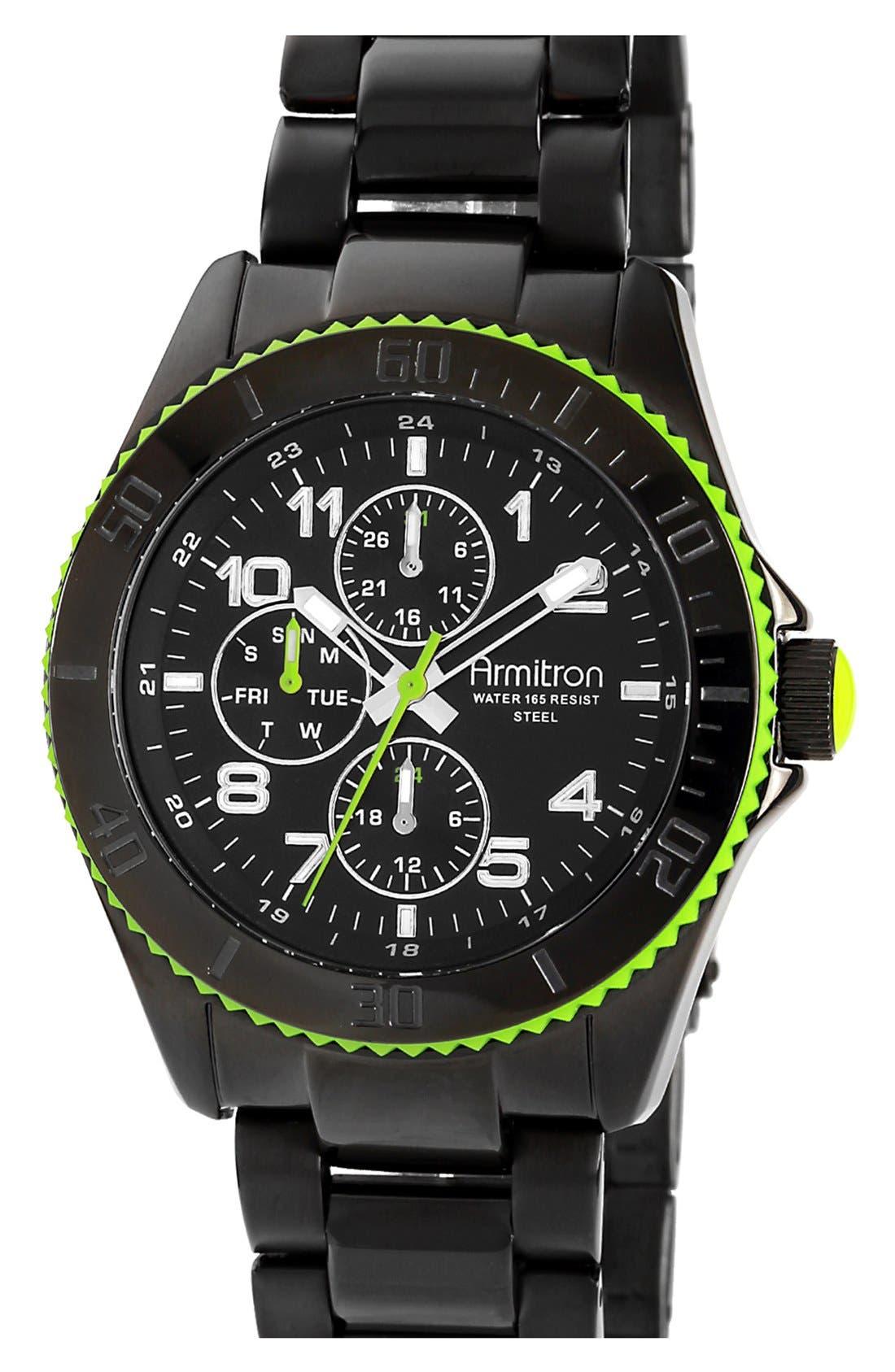 Main Image - Armitron Round Multifunction Bracelet Watch, 43mm