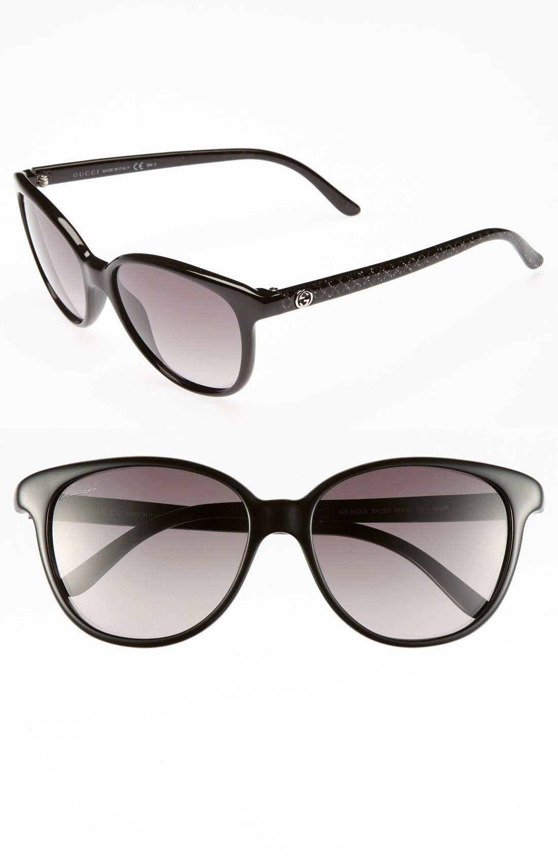Alternate Image 1 Selected - Gucci 55mm Retro Sunglasses