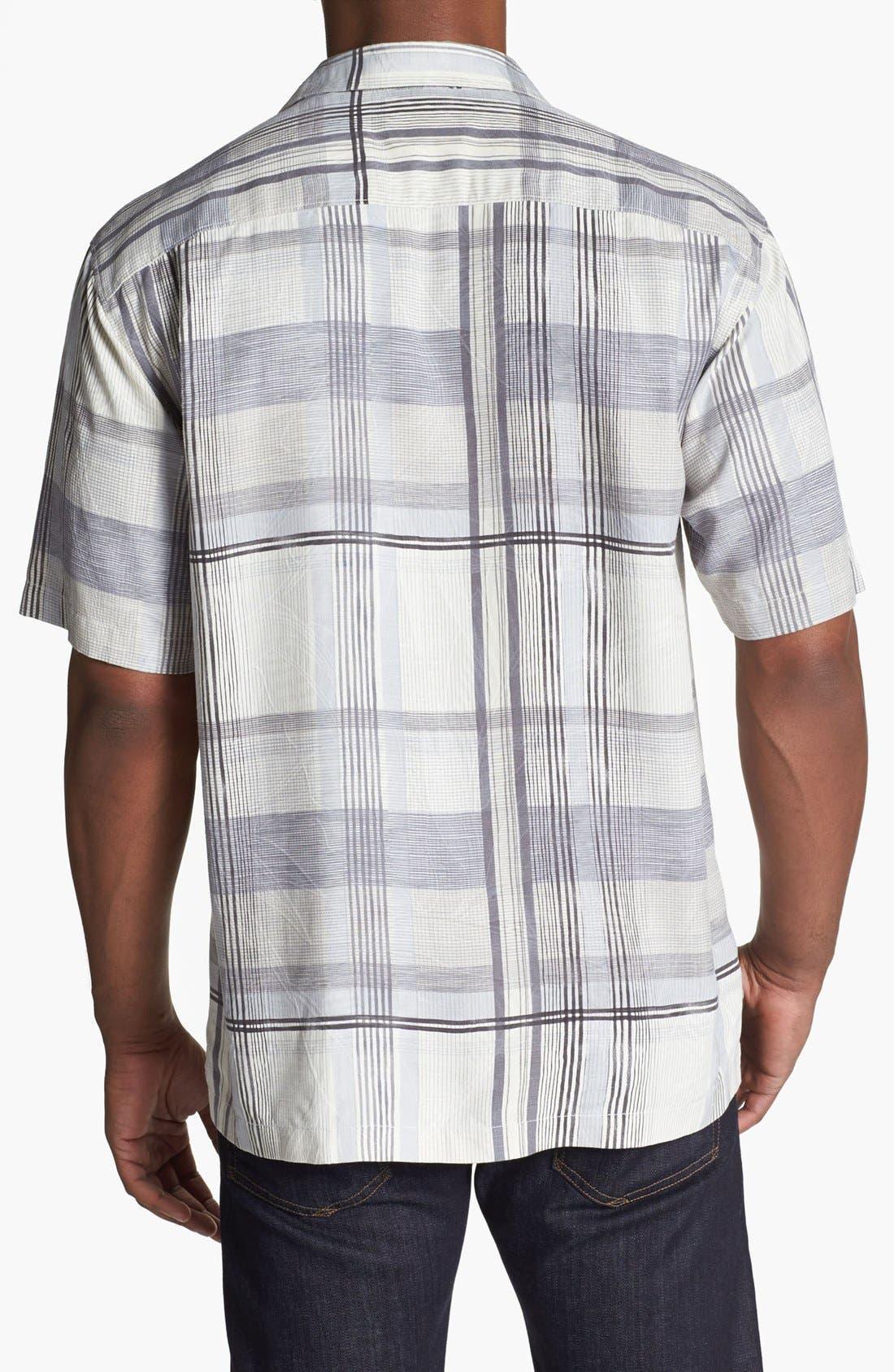 Alternate Image 2  - Tommy Bahama 'Plaid Vallarta' Silk Campshirt
