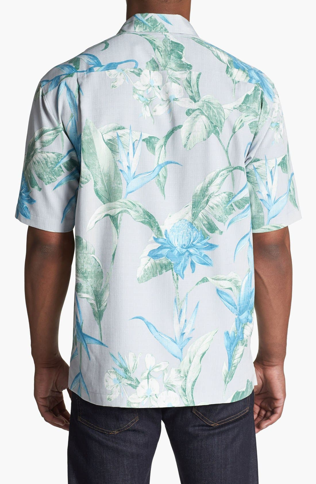 Alternate Image 2  - Tommy Bahama 'Sal de Mar' Silk Campshirt