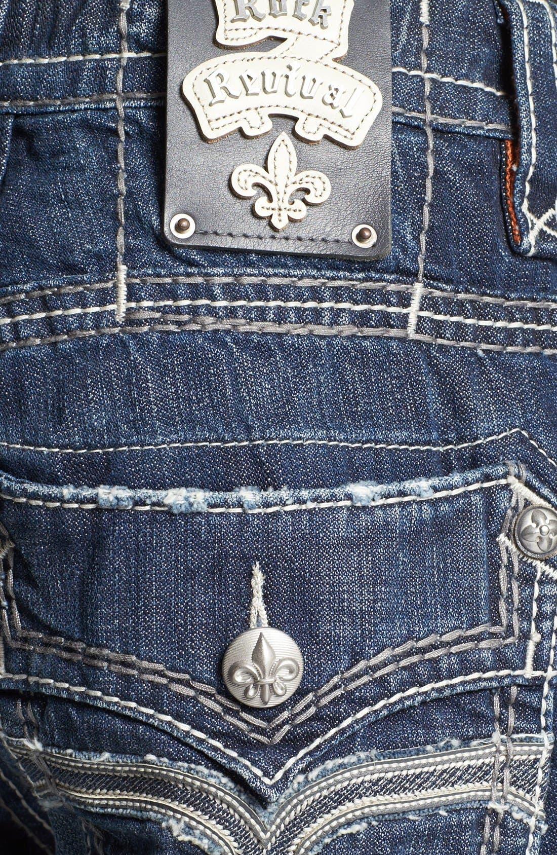 Alternate Image 4  - Rock Revival 'Dan' Straight Leg Jeans (Dark Blue)