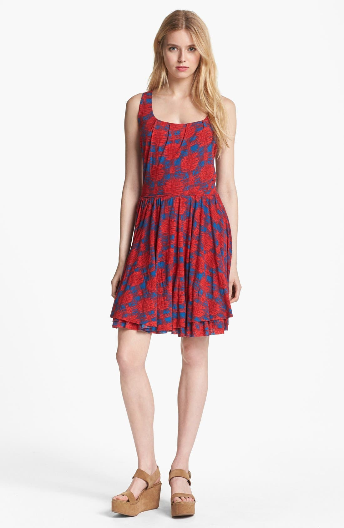 Main Image - MARC BY MARC JACOBS 'Sam' Cotton Fit & Flare Dress