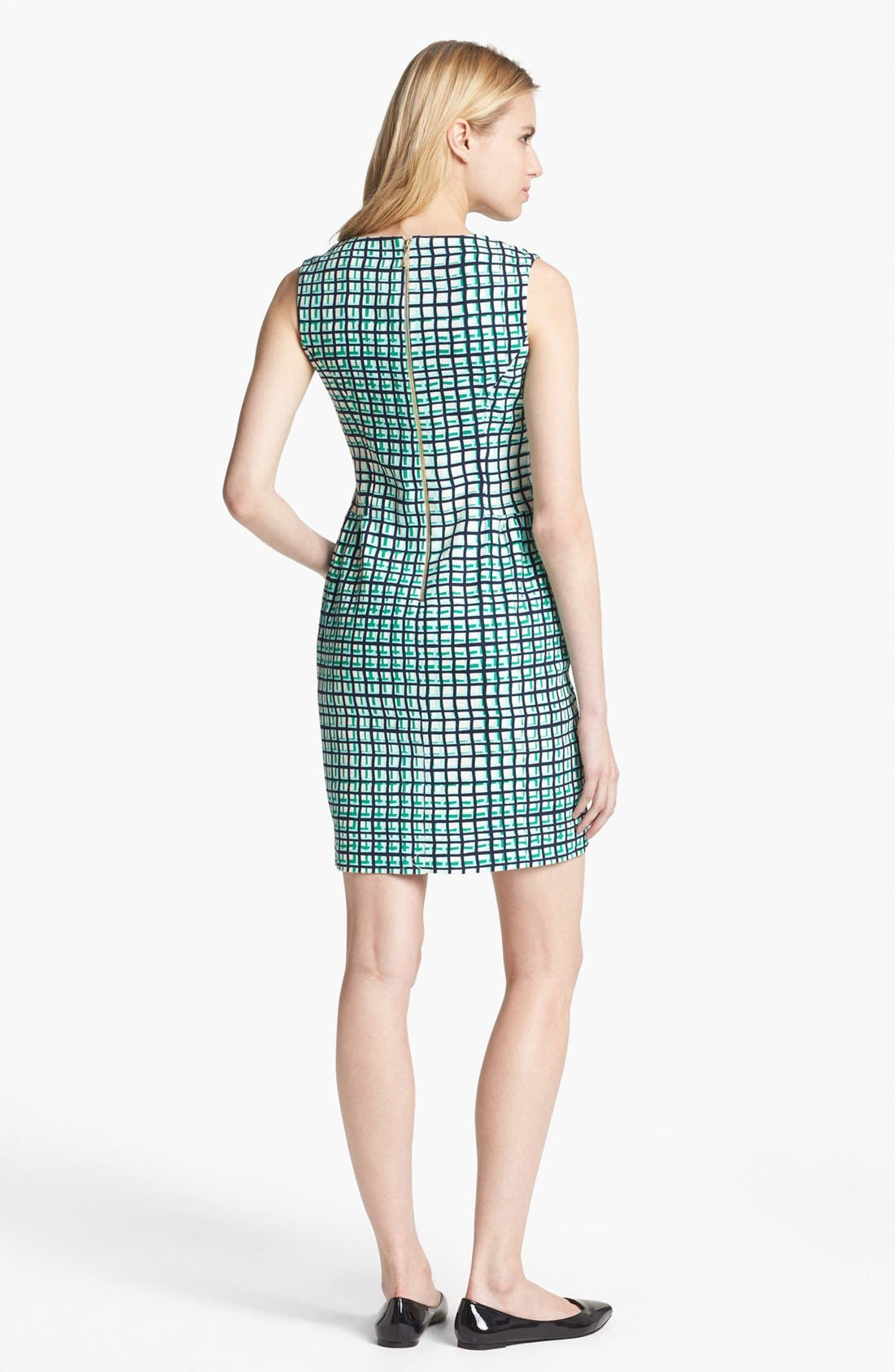 Alternate Image 2  - kate spade new york 'samantha' stretch cotton sheath dress