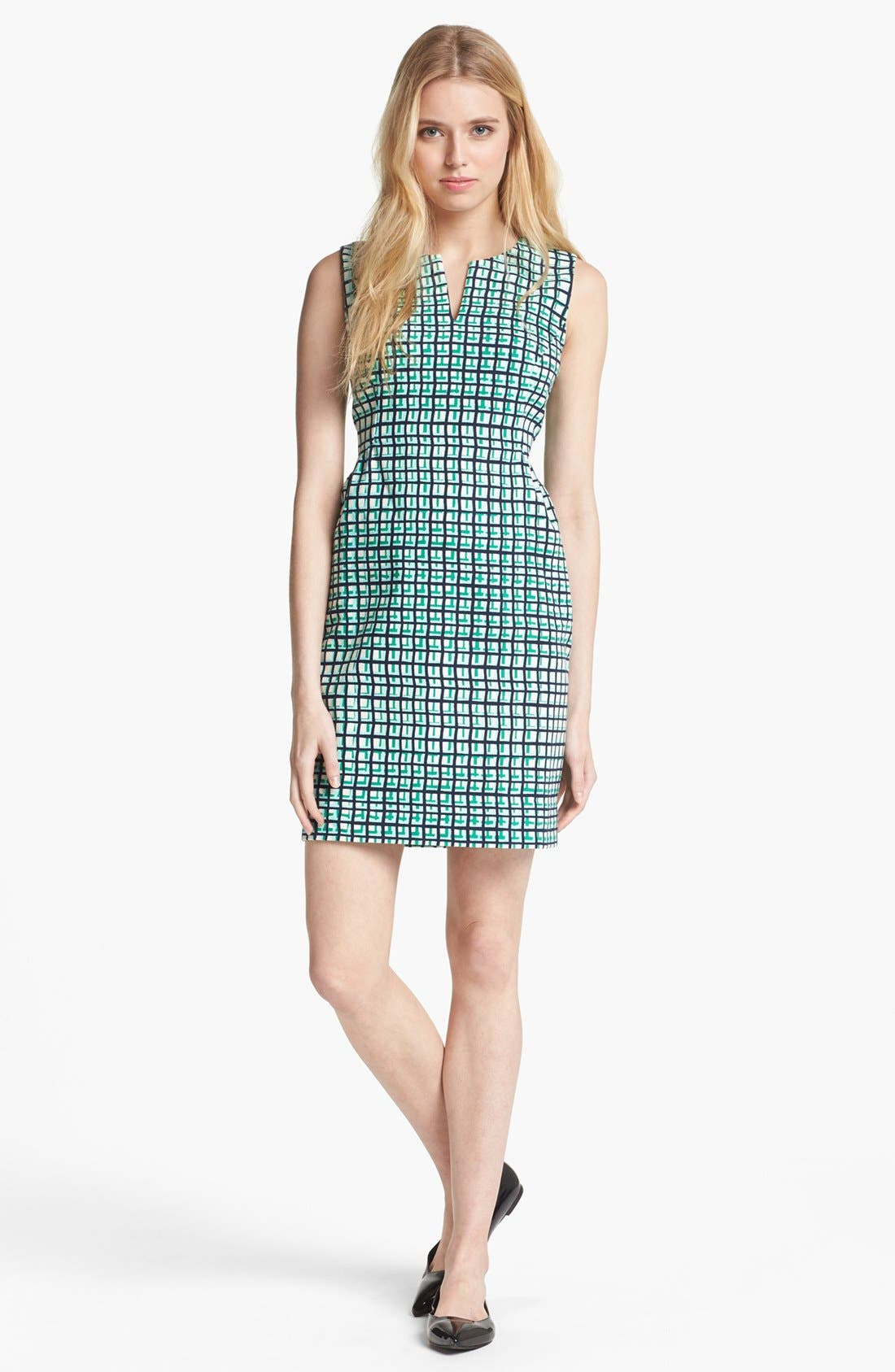 Alternate Image 1 Selected - kate spade new york 'samantha' stretch cotton sheath dress