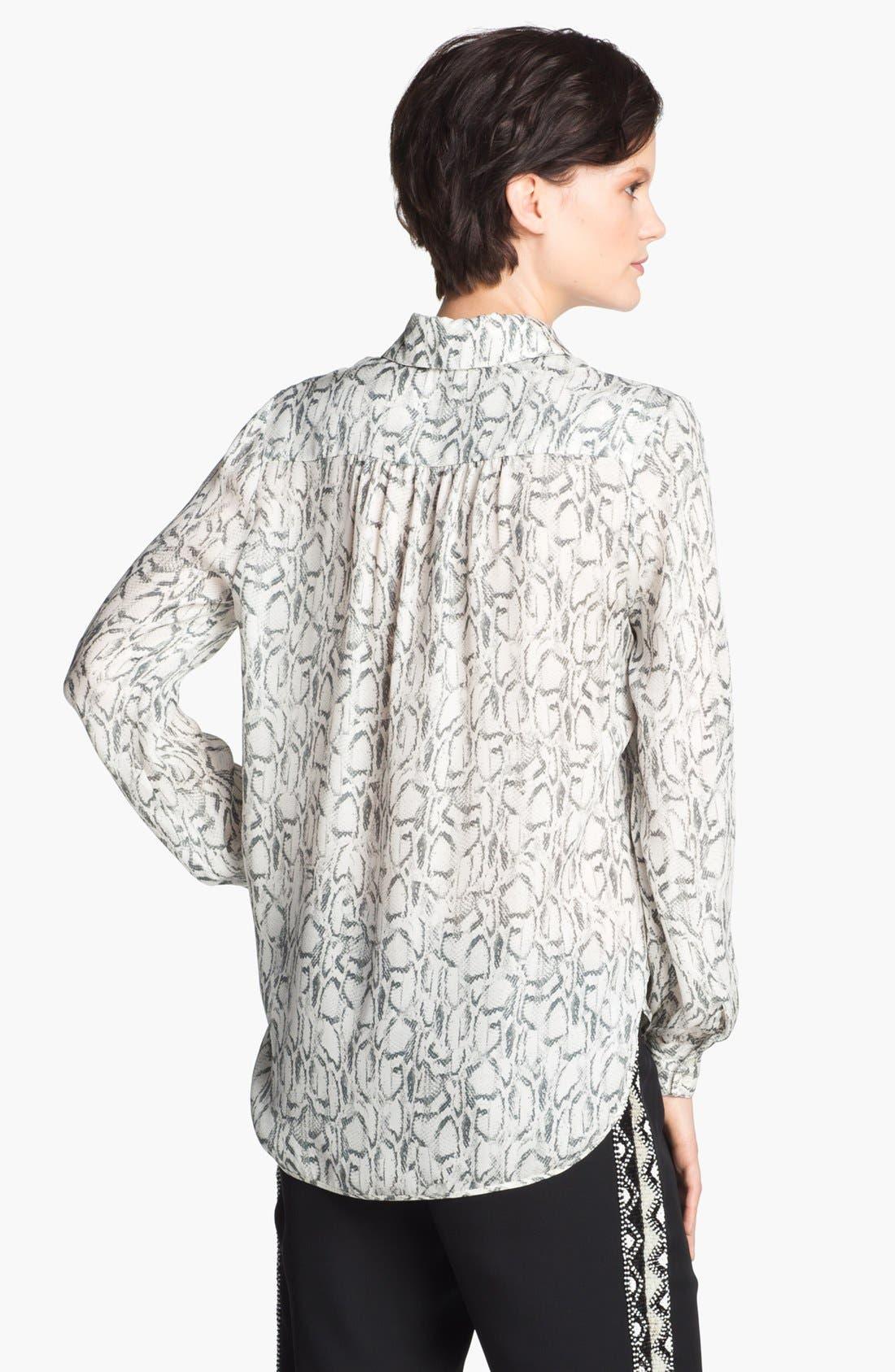 Alternate Image 5  - Haute Hippie Print Silk Blouse