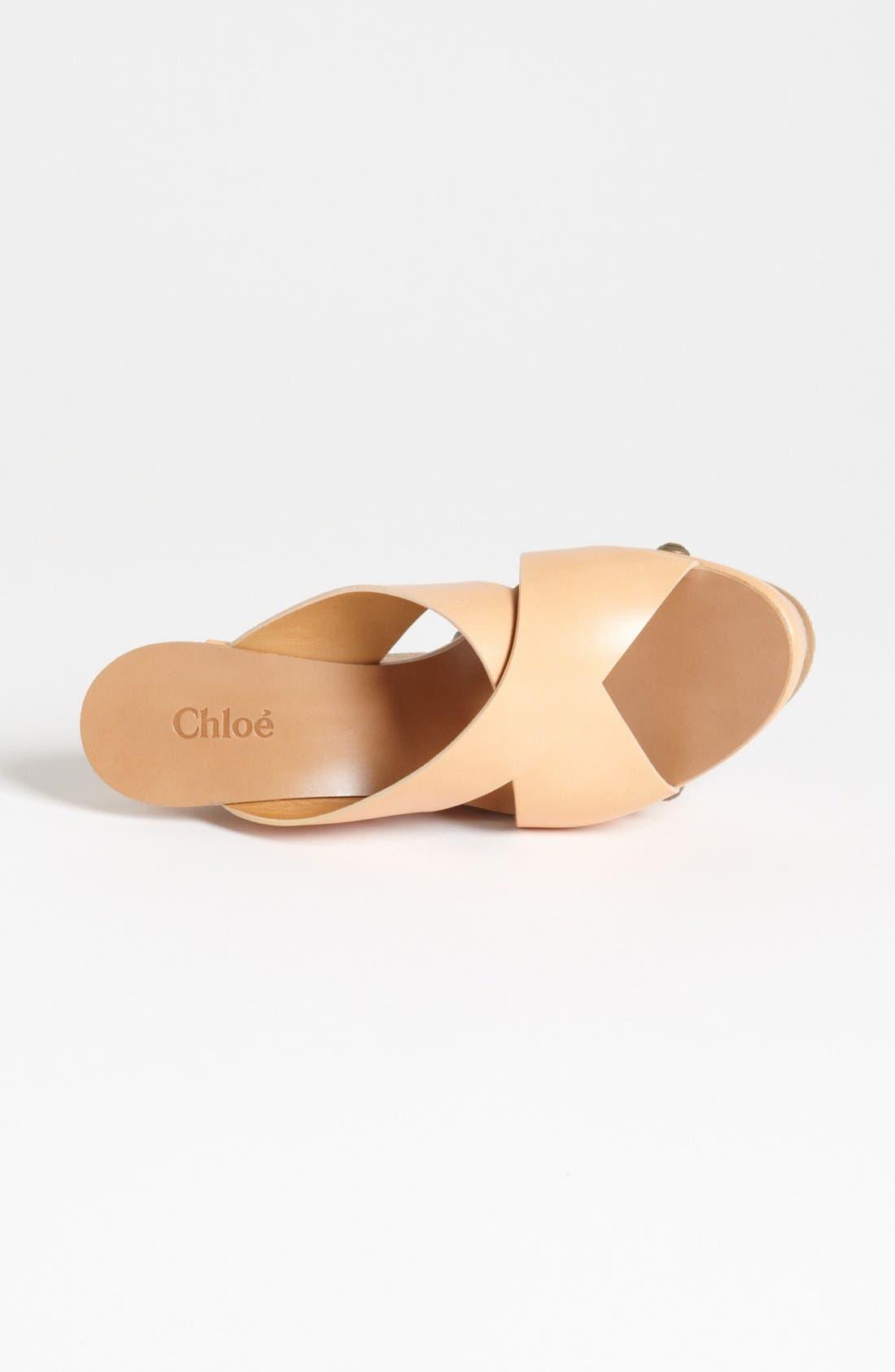 Alternate Image 4  - Chloé Cork Platform Wedge Sandal