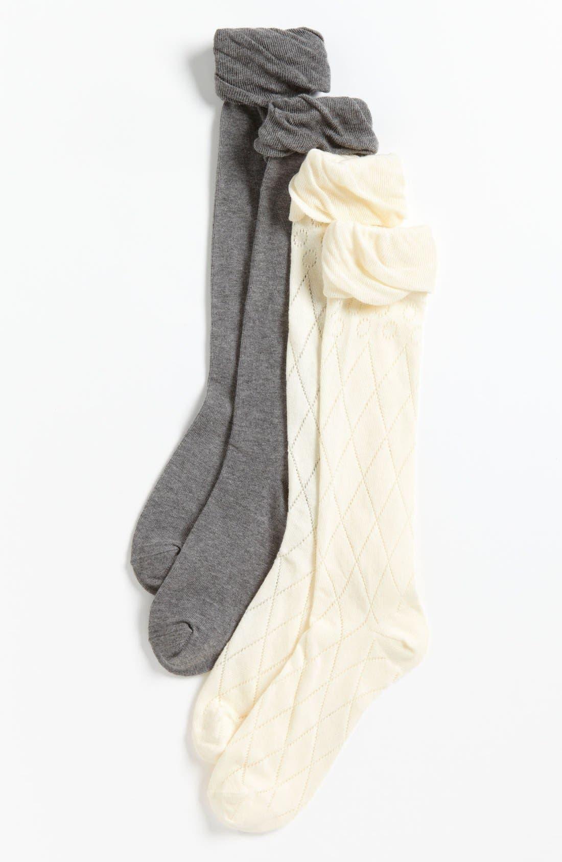 Main Image - Nordstrom Knee High Socks (2-Pack) (Toddler, Little Girls & Big Girls)