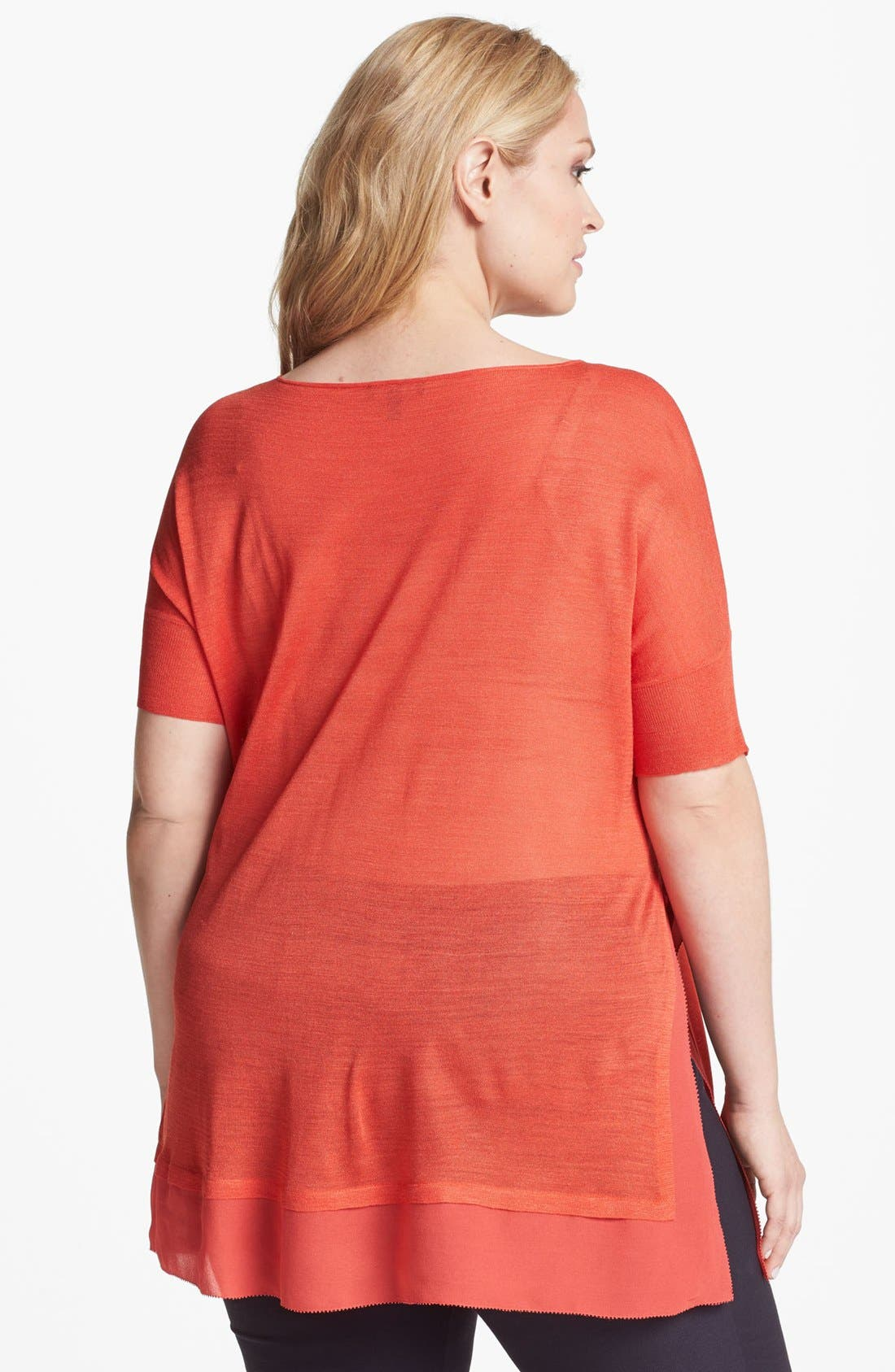 Alternate Image 2  - Eileen Fisher Short Sleeve Top (Plus Size)