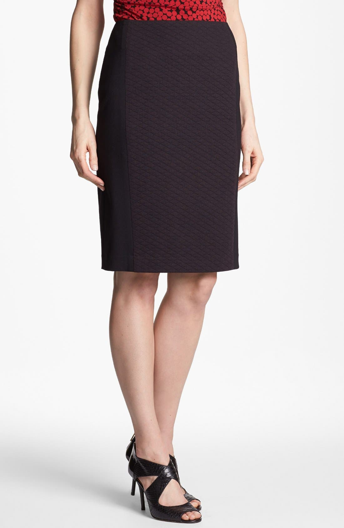 Main Image - Halogen® Quilted Front Ponte Knit Pencil Skirt