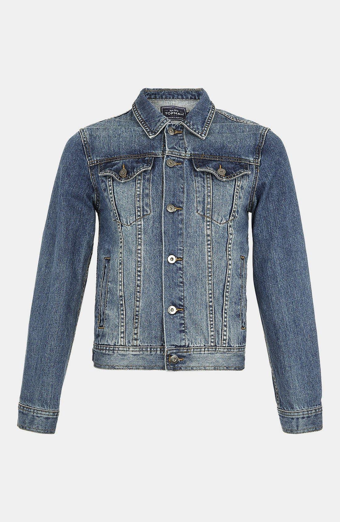 Main Image - Topman Denim Jacket