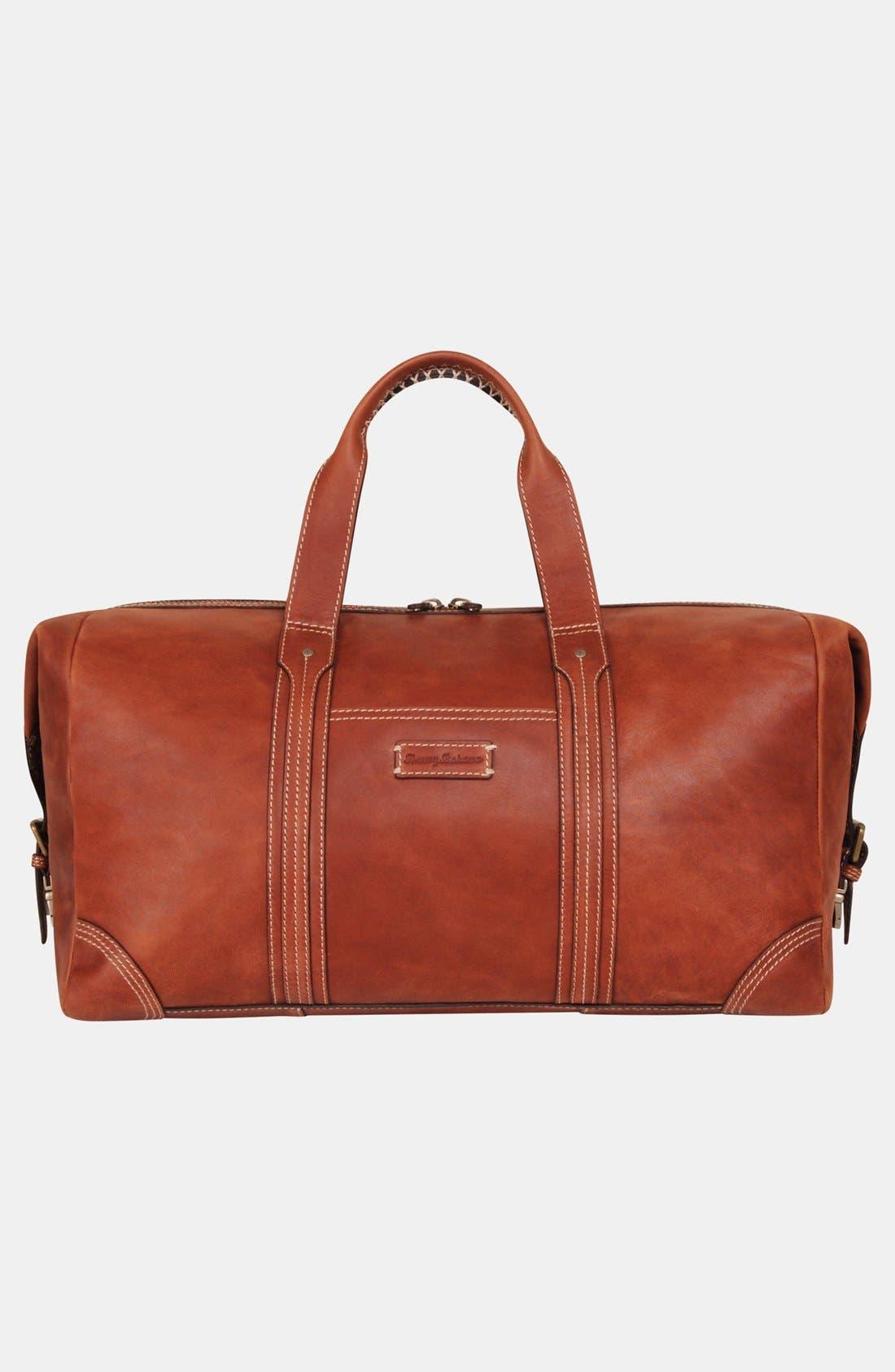 Main Image - Tommy Bahama Leather Duffel Bag
