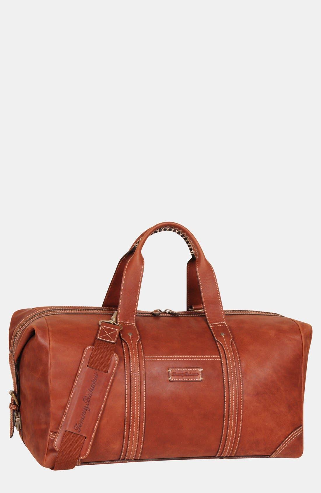Alternate Image 2  - Tommy Bahama Leather Duffel Bag