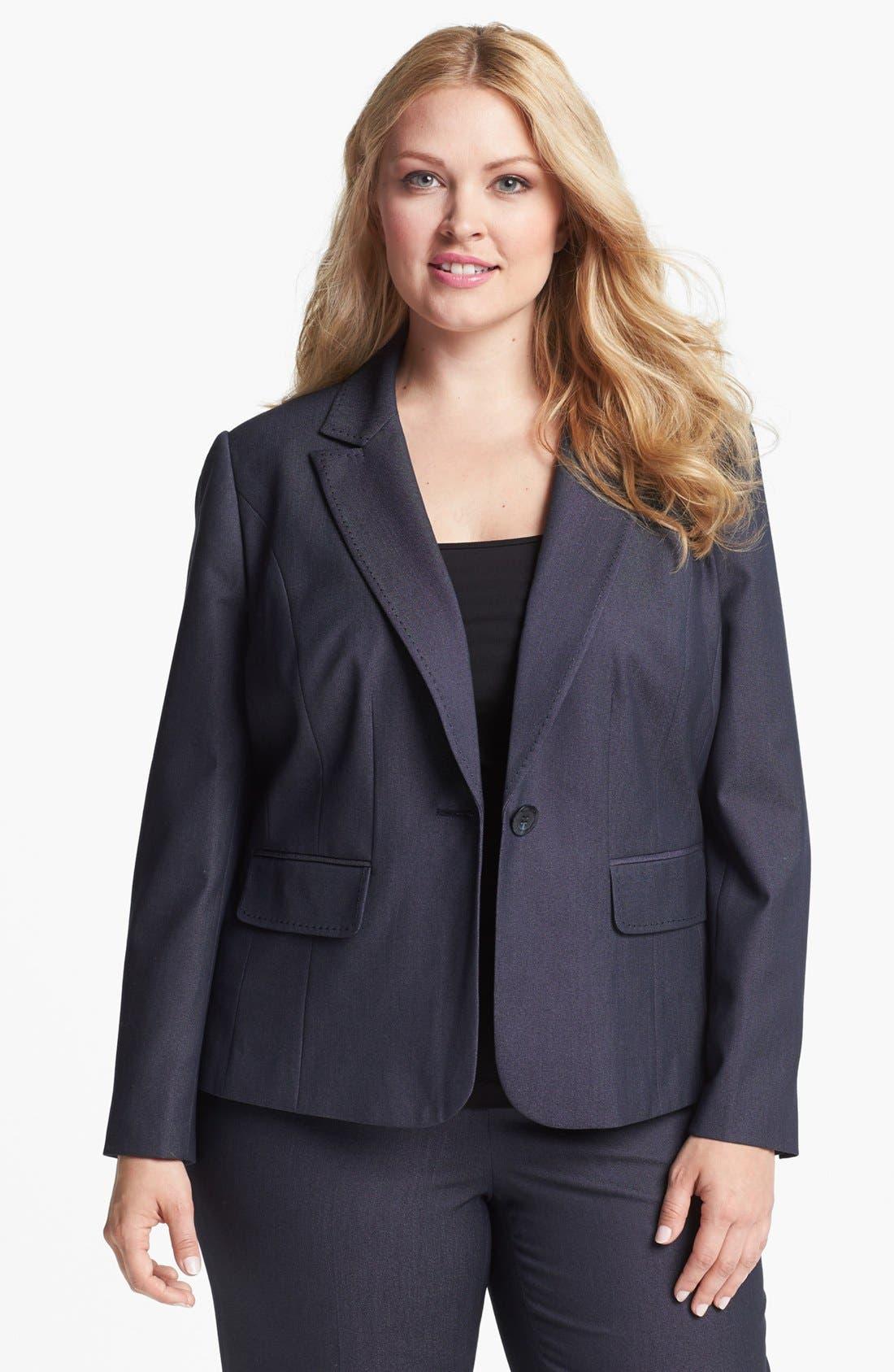Main Image - Sejour Single Button Jacket (Plus Size)