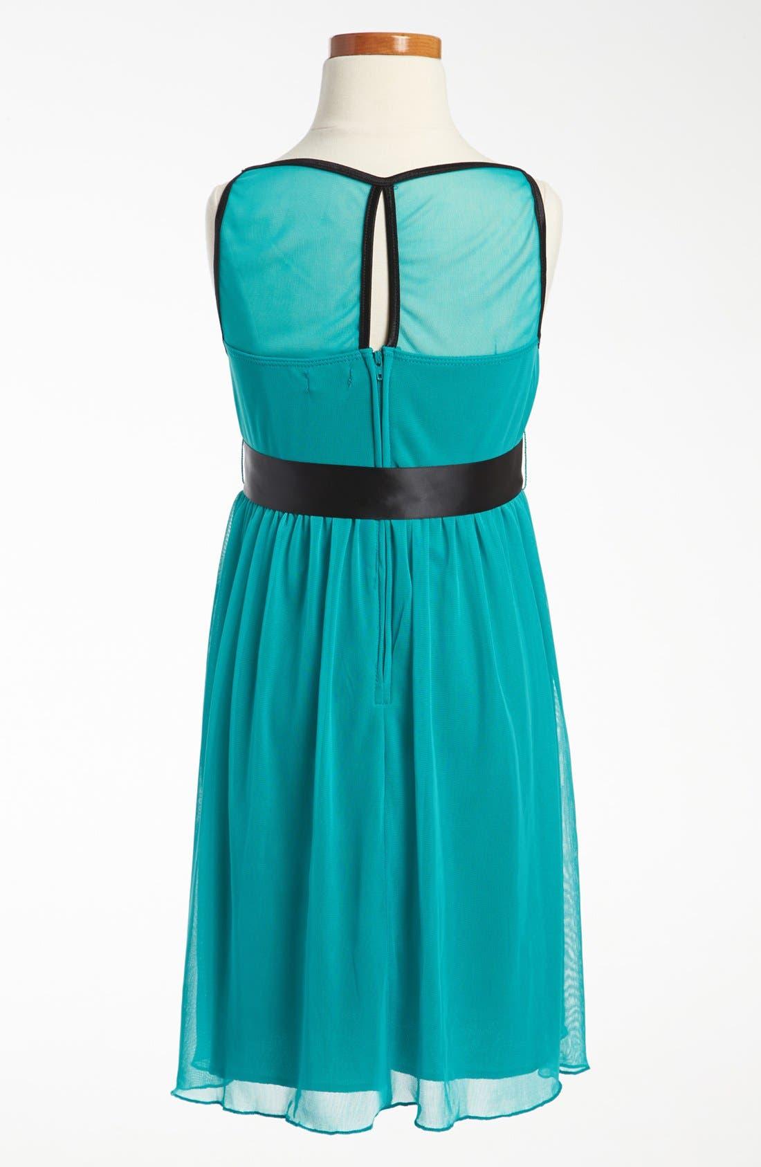 Alternate Image 2  - Roxette Illusion Yoke Dress (Big Girls)