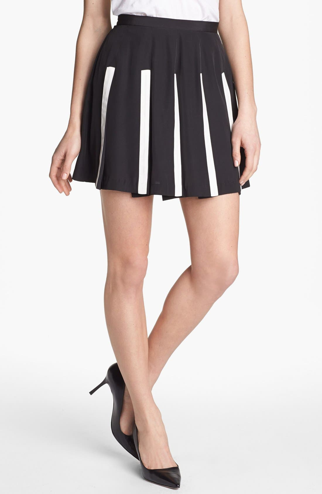 Main Image - Collective Concepts Contrast Pleat Skirt