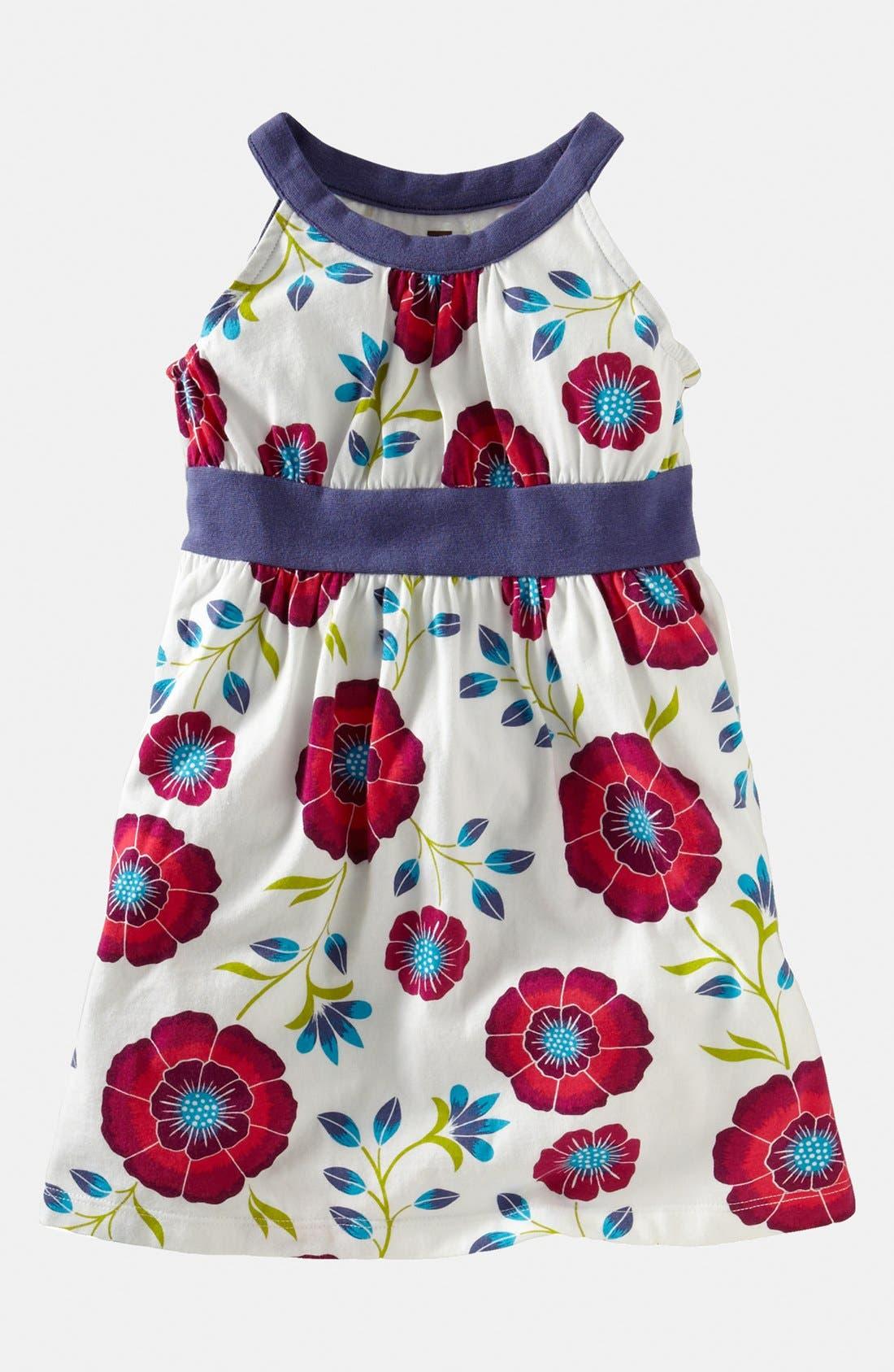 Main Image - Tea Collection 'African Poppy' Halter Dress (Little Girls & Big Girls)