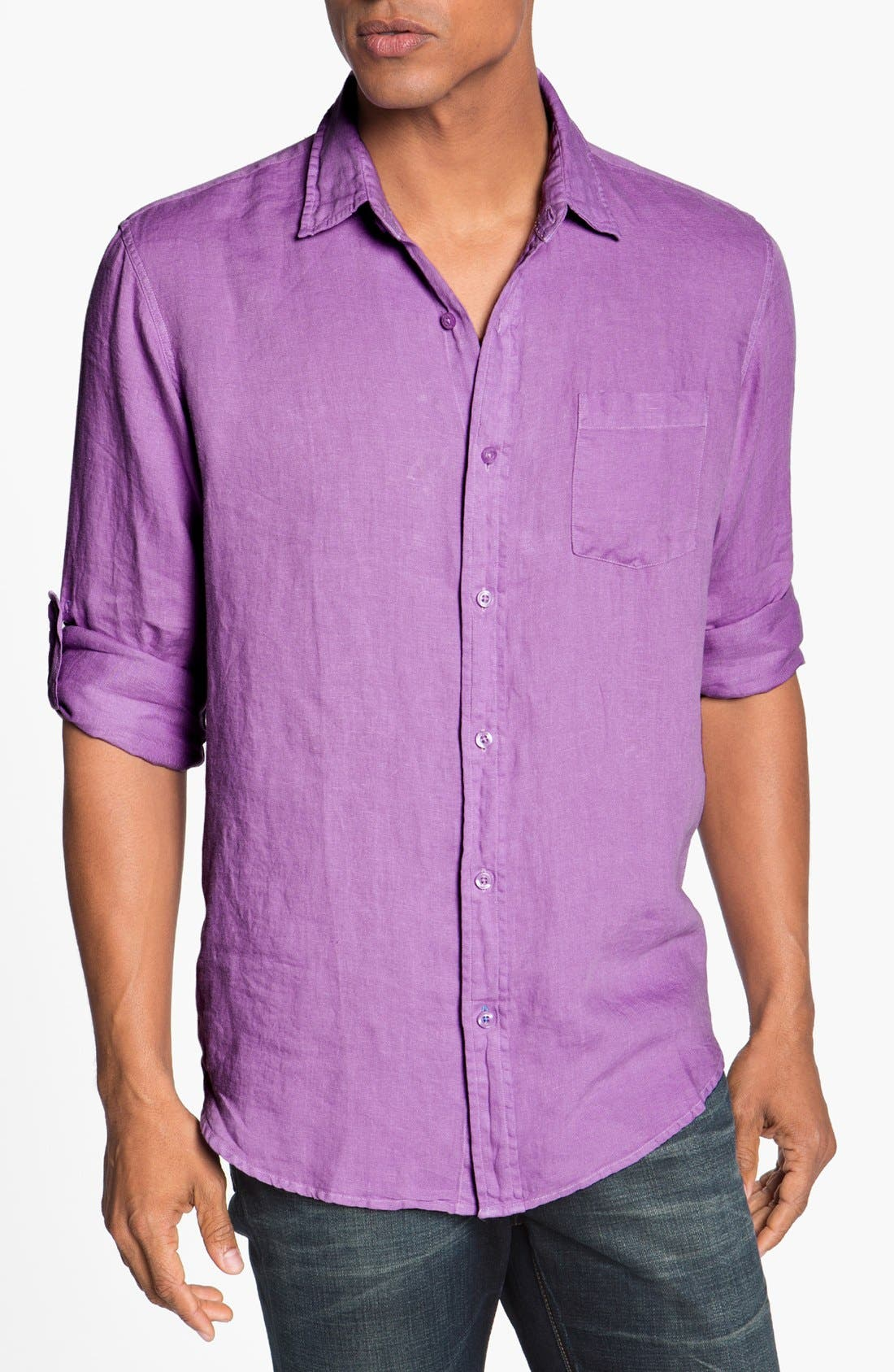 Main Image - Toscano Regular Fit Linen Sport Shirt
