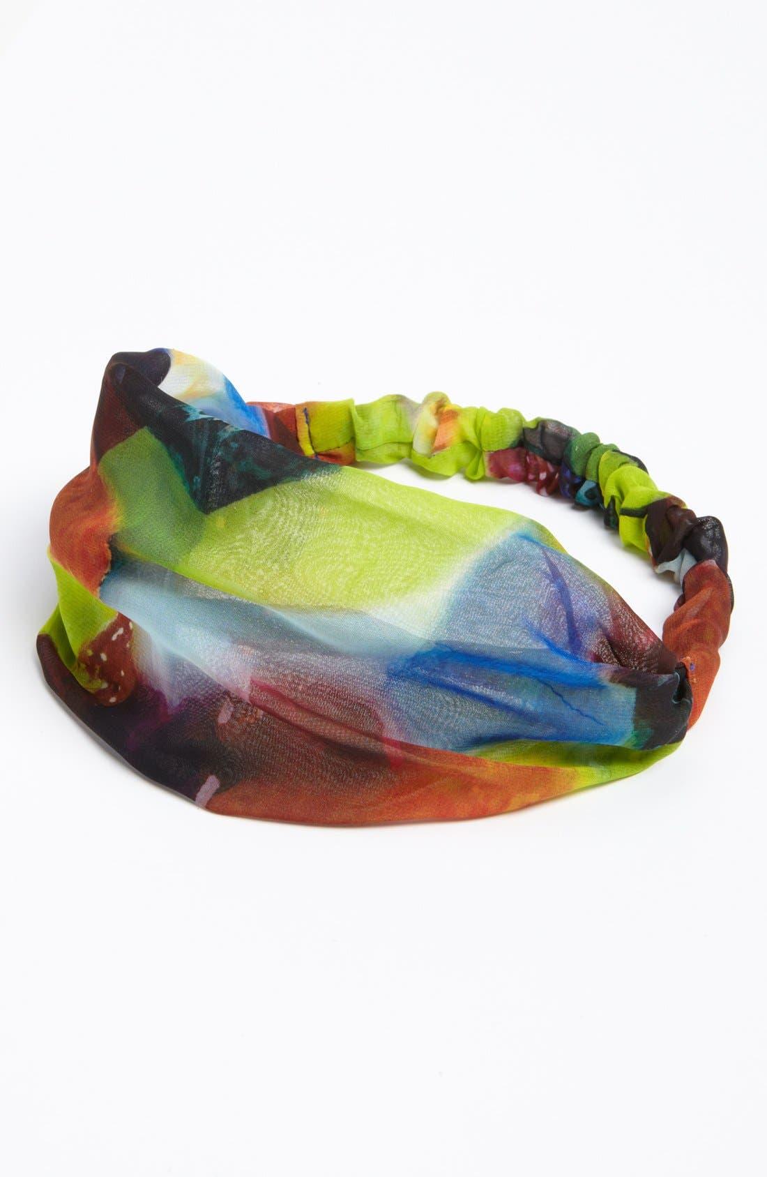 Alternate Image 1 Selected - Tasha 'Patchwork Paint' Head Wrap