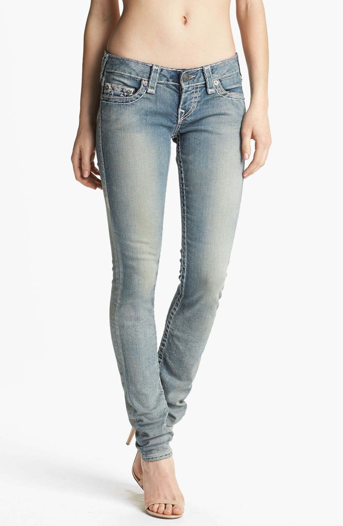 Main Image - True Religion Brand Jeans 'Stella Super T' Skinny Jeans (Tail Driver)