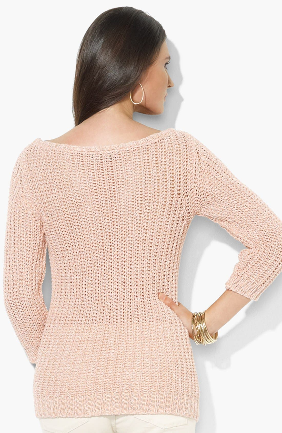 Alternate Image 2  - Lauren Ralph Lauren Bateau Neck Cotton Sweater
