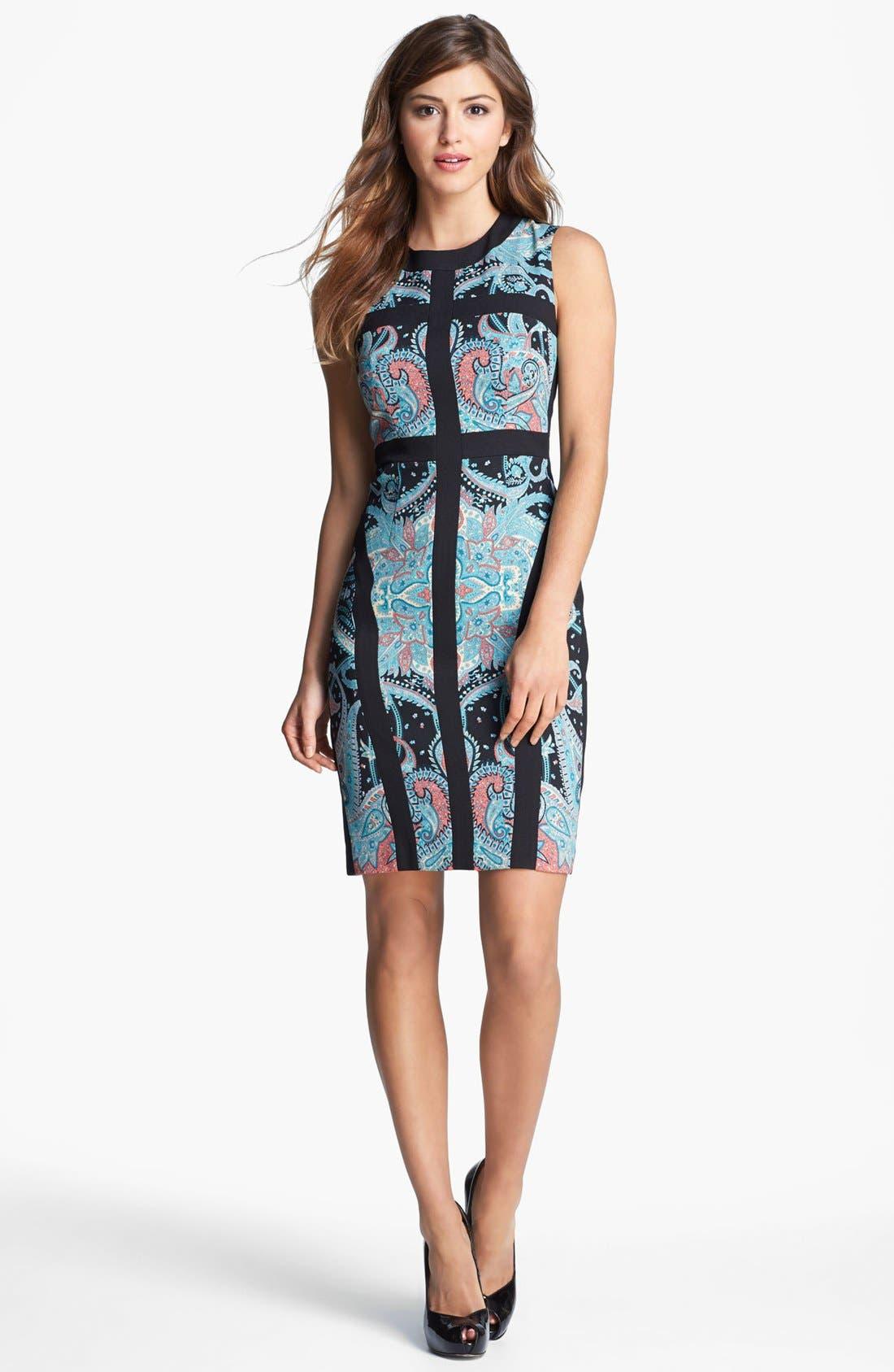 Main Image - BCBGMAXAZARIA Sleeveless Sheath Dress