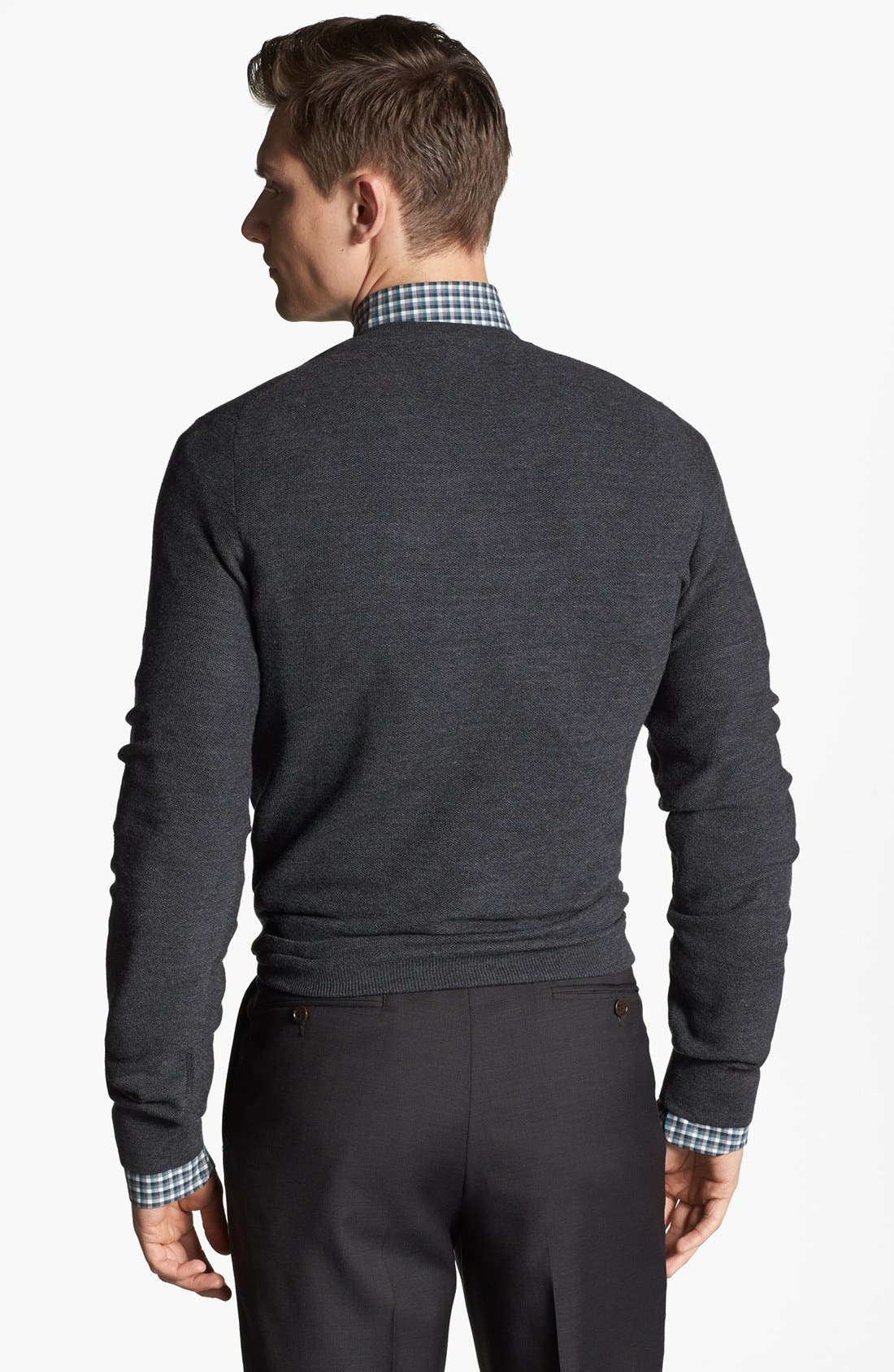 Alternate Image 2  - Canali Wool V-Neck Sweater