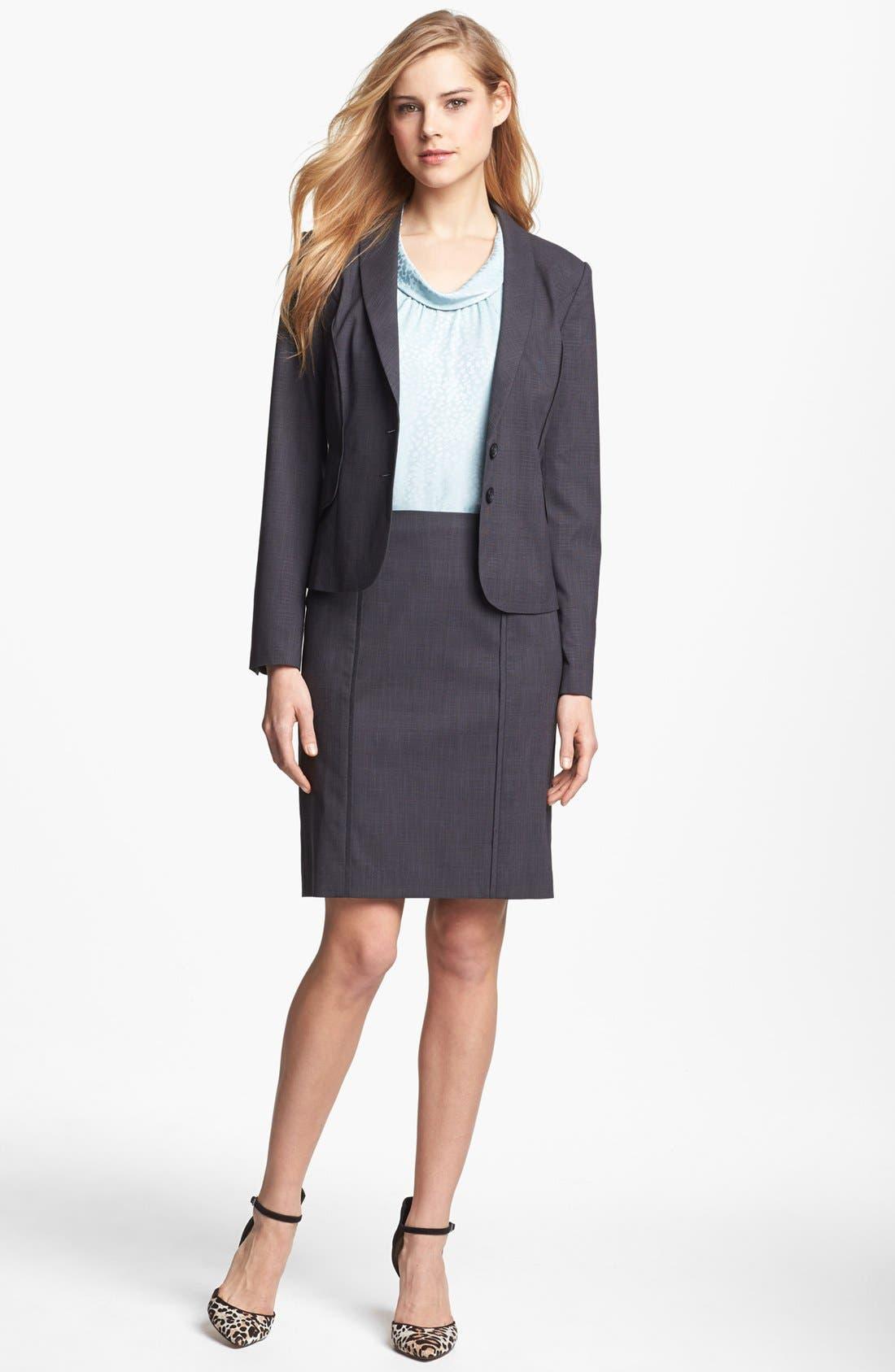 Main Image - Halogen® Etched Plaid Suit Jacket