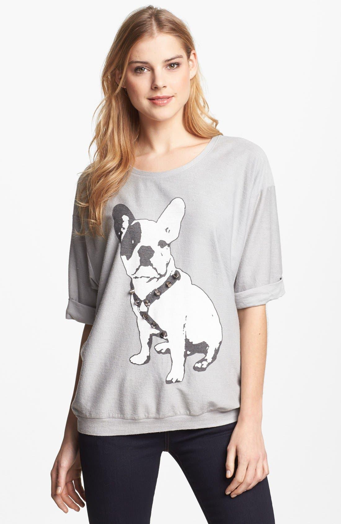 Alternate Image 1 Selected - Max & Mia Studded Graphic Sweatshirt