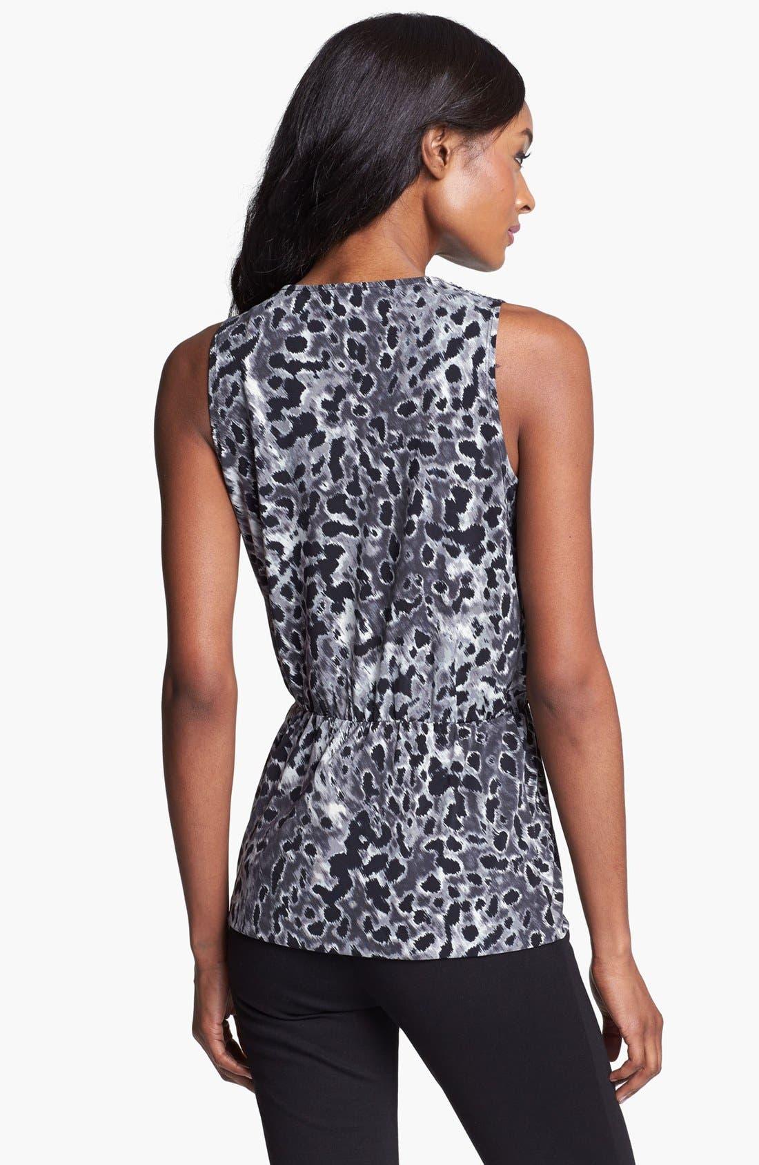 Alternate Image 2  - Anne Klein Faux Wrap Leopard Print Top