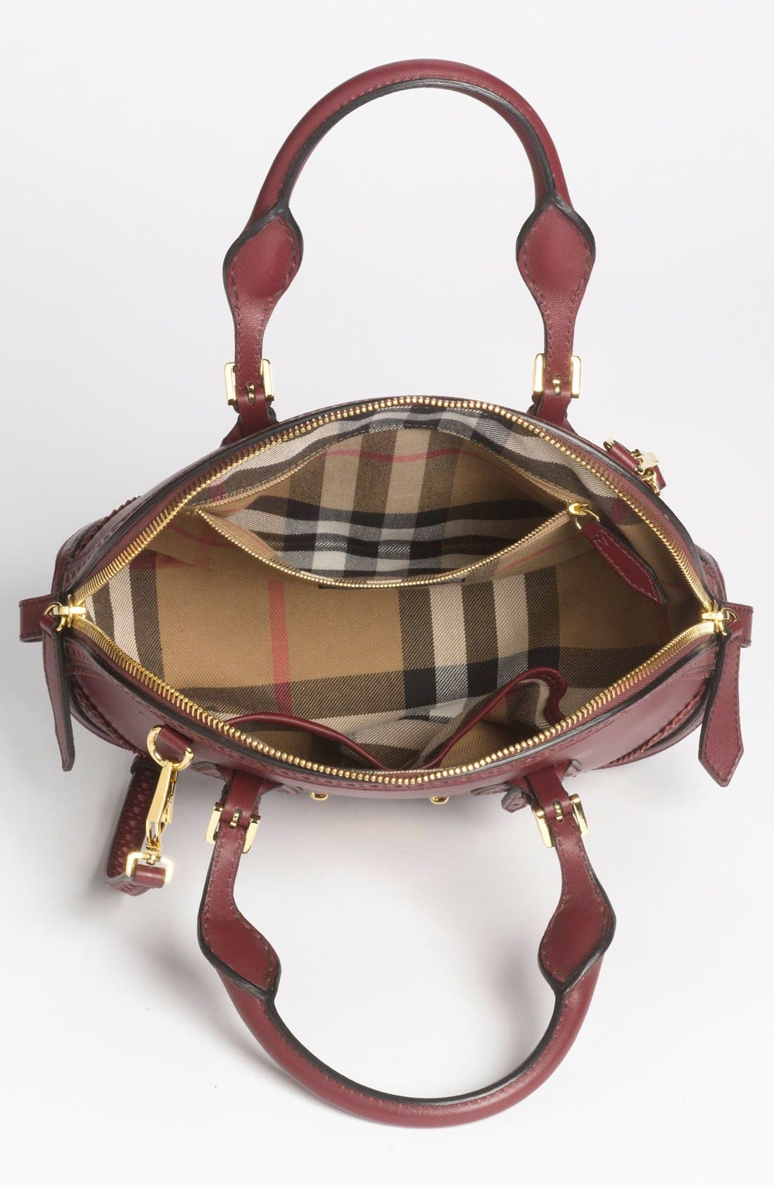 Alternate Image 3  - Burberry 'Orchard - Small' Brogued Leather Satchel