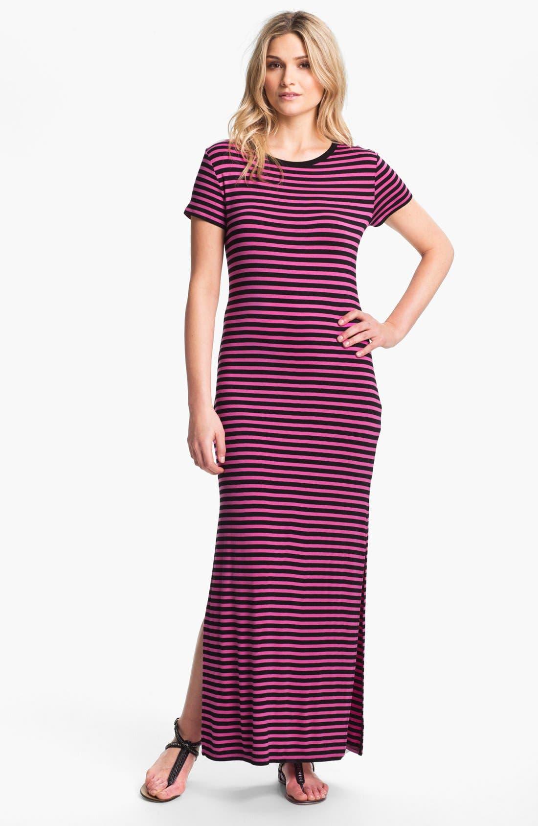 Alternate Image 1 Selected - MICHAEL Michael Kors Stripe Maxi Dress