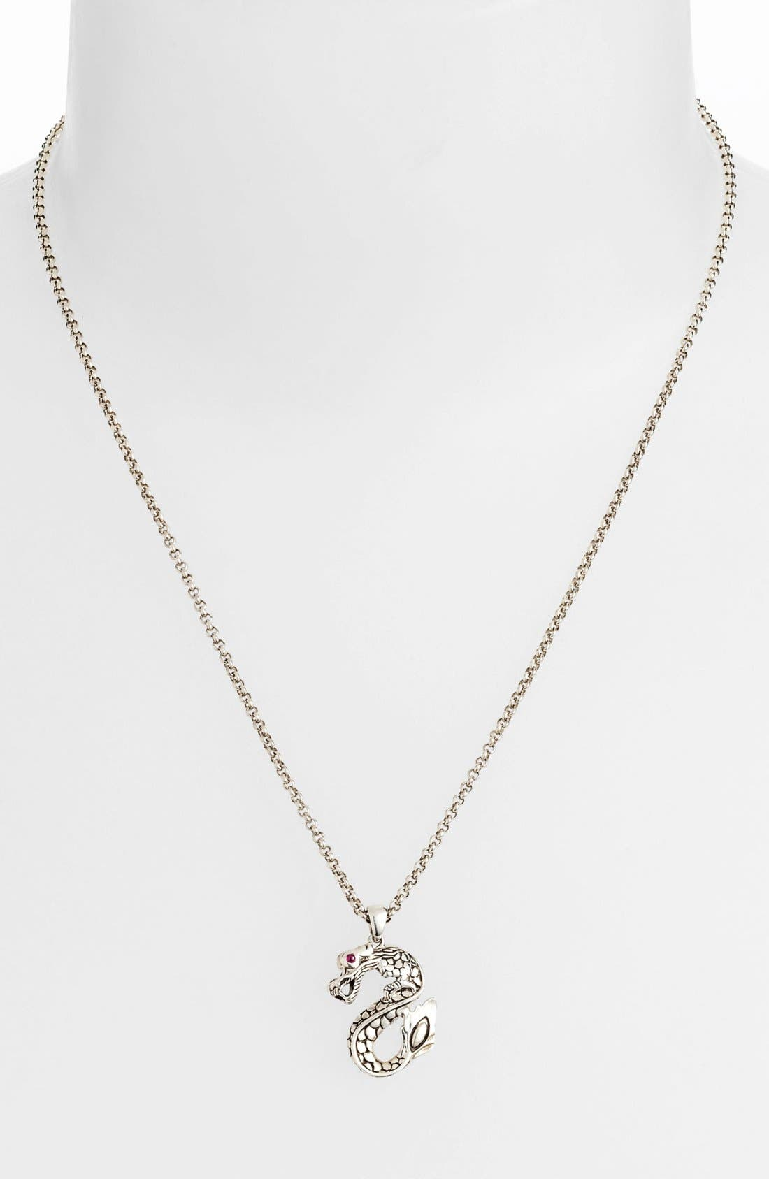 Alternate Image 1 Selected - John Hardy 'Naga Batu' Dragon Pendant Necklace