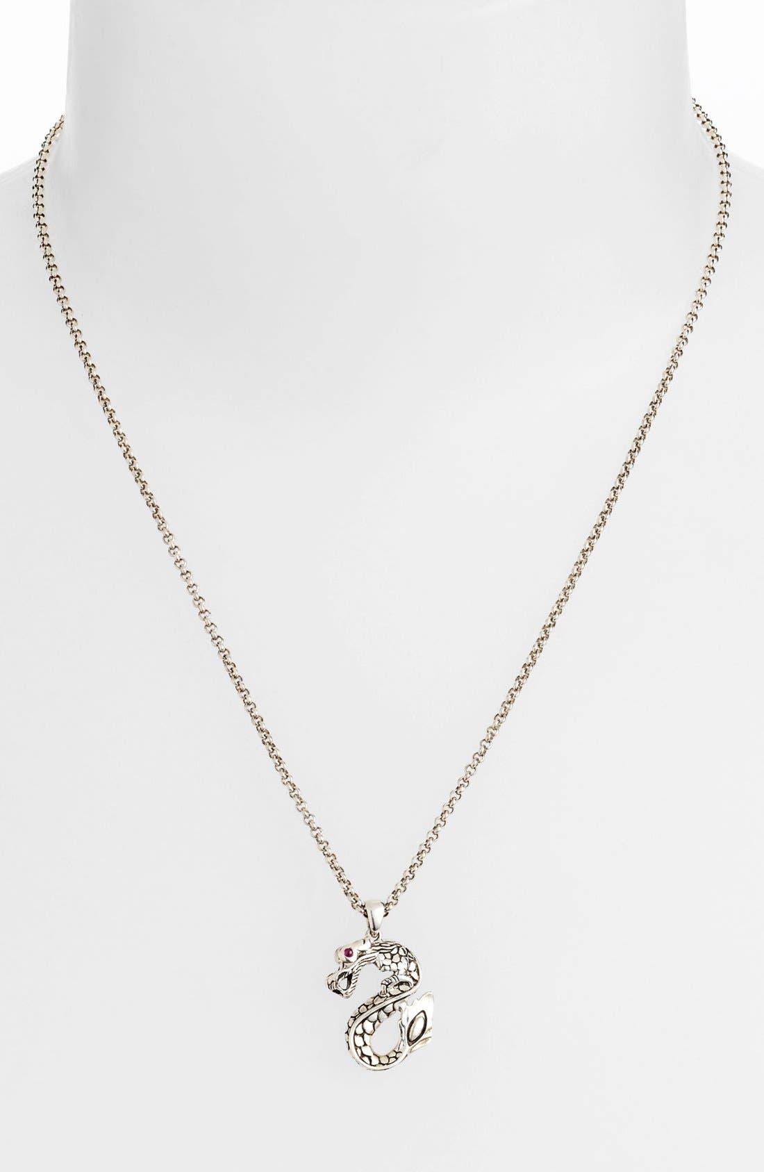 Main Image - John Hardy 'Naga Batu' Dragon Pendant Necklace