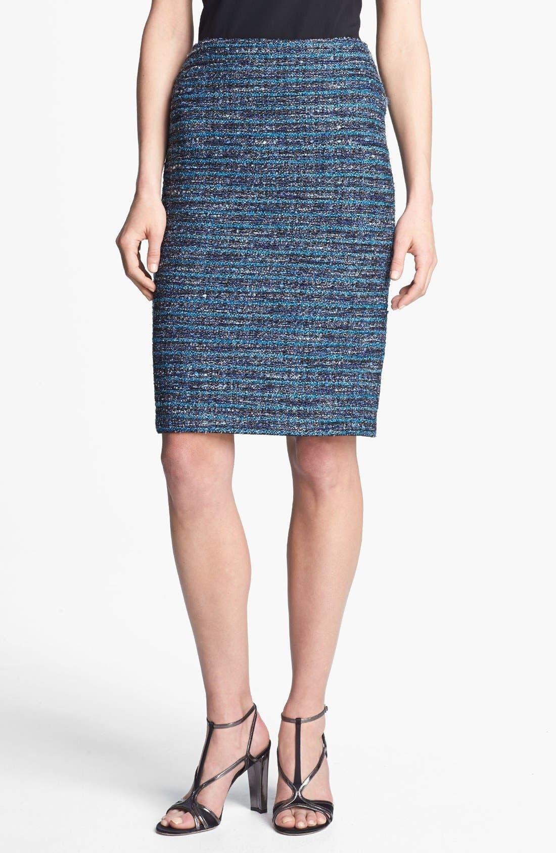 Main Image - St. John Collection Organza Ribbon Tweed Pencil Skirt