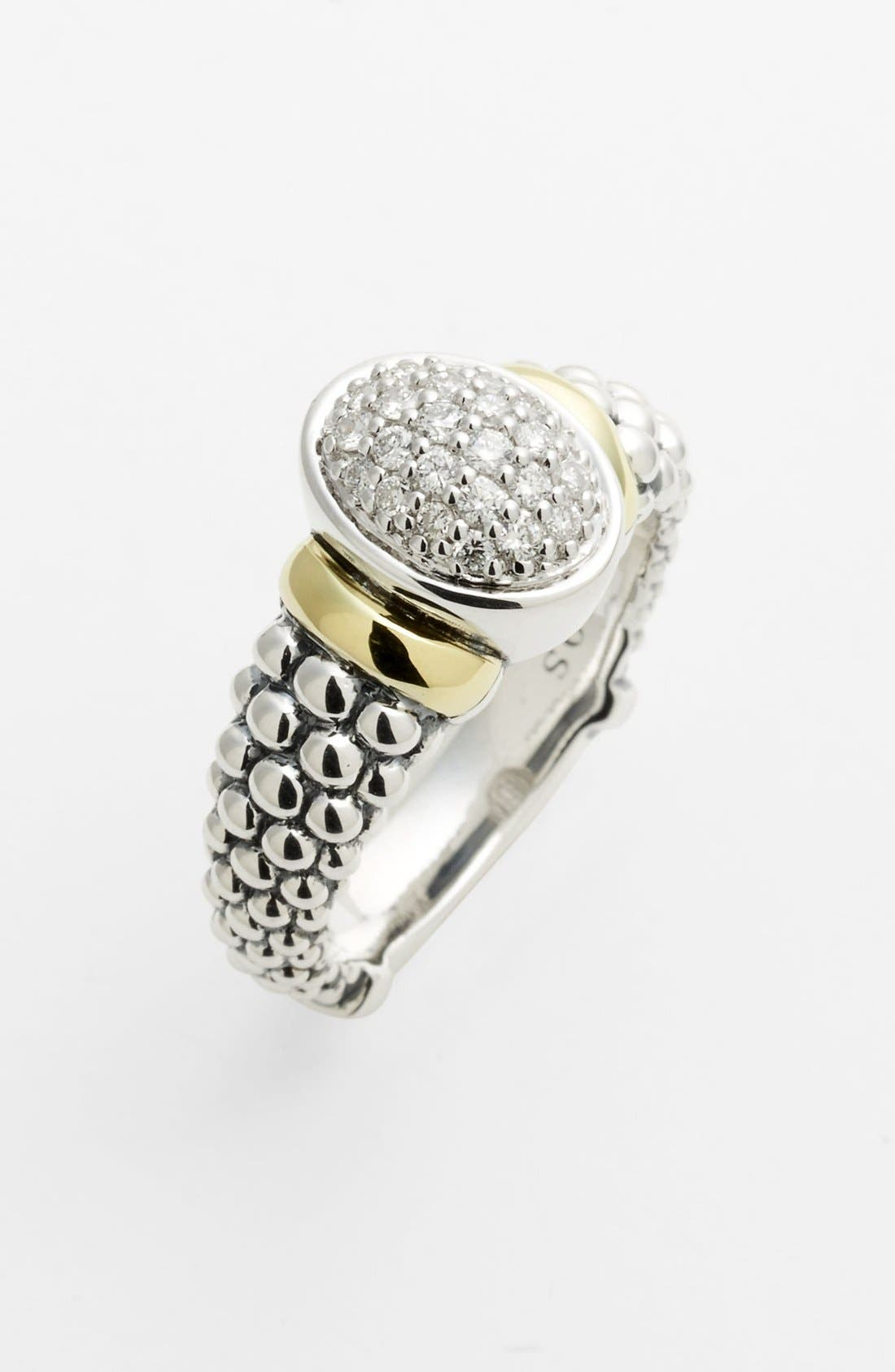 Alternate Image 1 Selected - Lagos 'Twilight' Oval Diamond Ring (Online Only)
