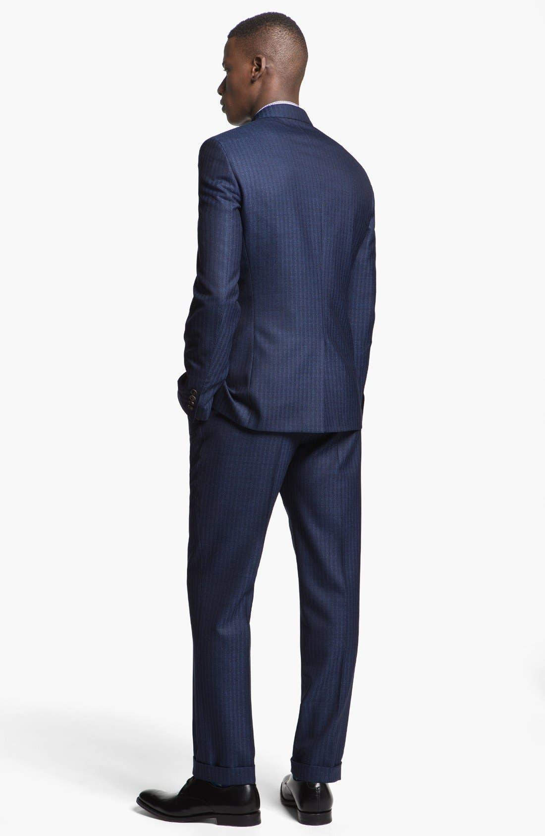 Alternate Image 3  - Paul Smith London Slim Fit Stripe Wool Suit