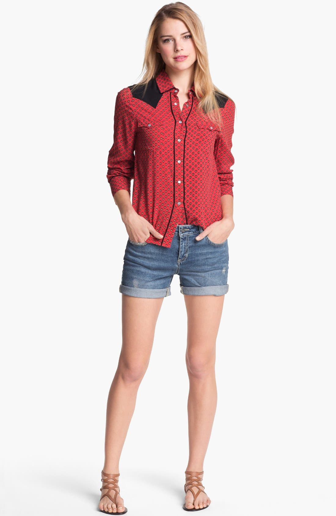 Alternate Image 3  - Two by Vince Camuto Distressed Denim Shorts