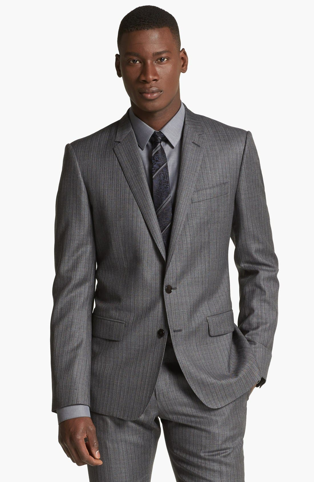 Alternate Image 4  - Dolce&Gabbana 'Martini' Herringbone Wool Suit