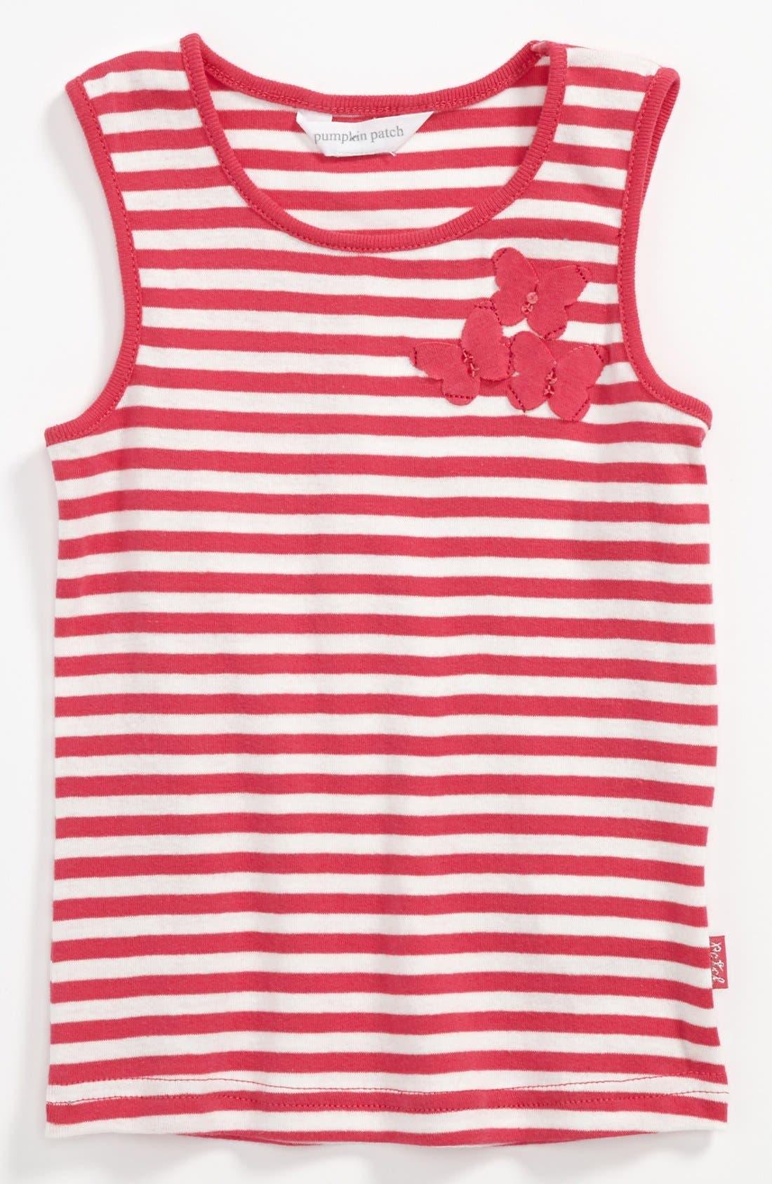 Main Image - Pumpkin Patch Stripe Tank Top (Toddler)