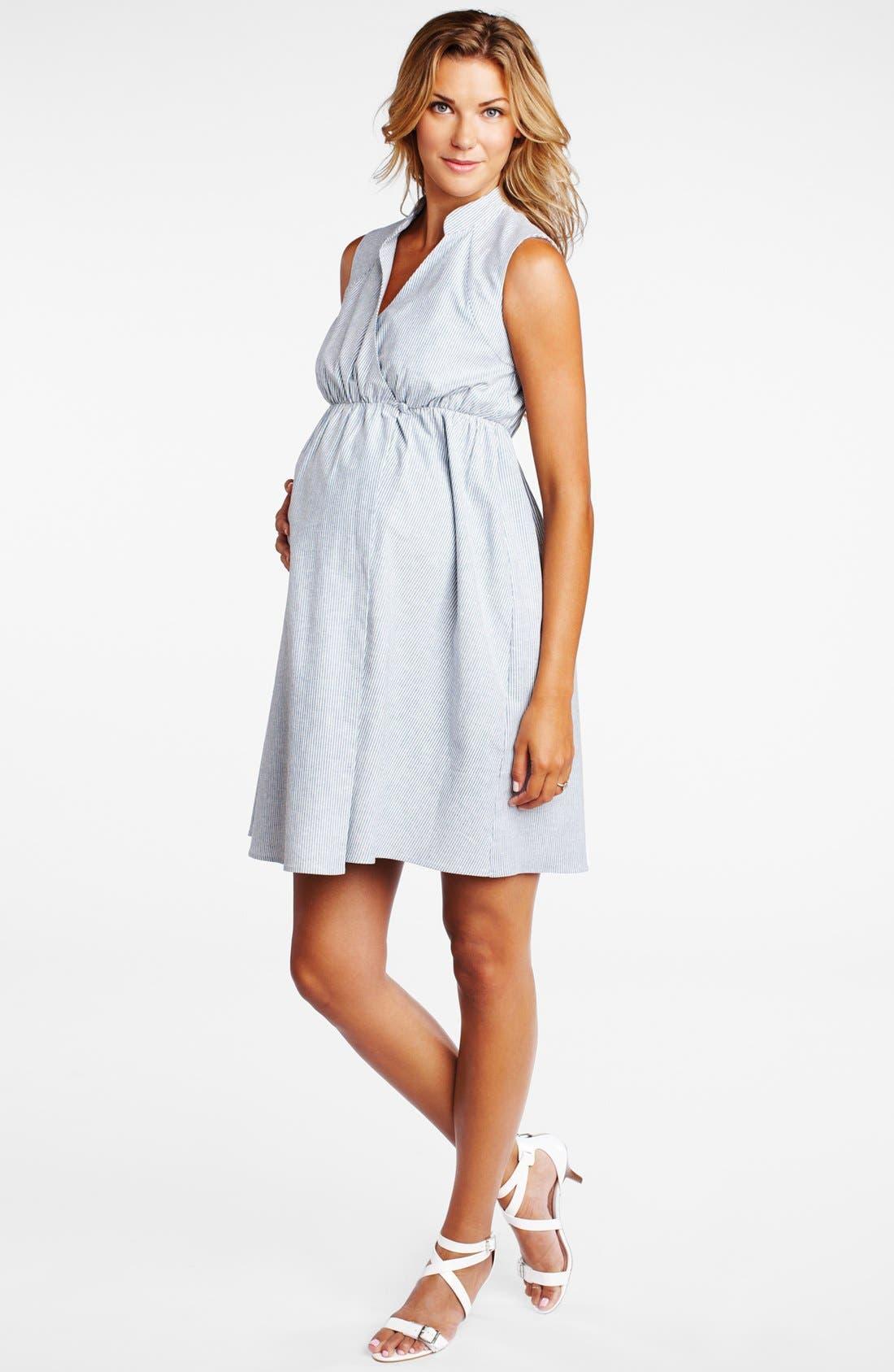 Main Image - Maternal America Wrap Maternity Dress