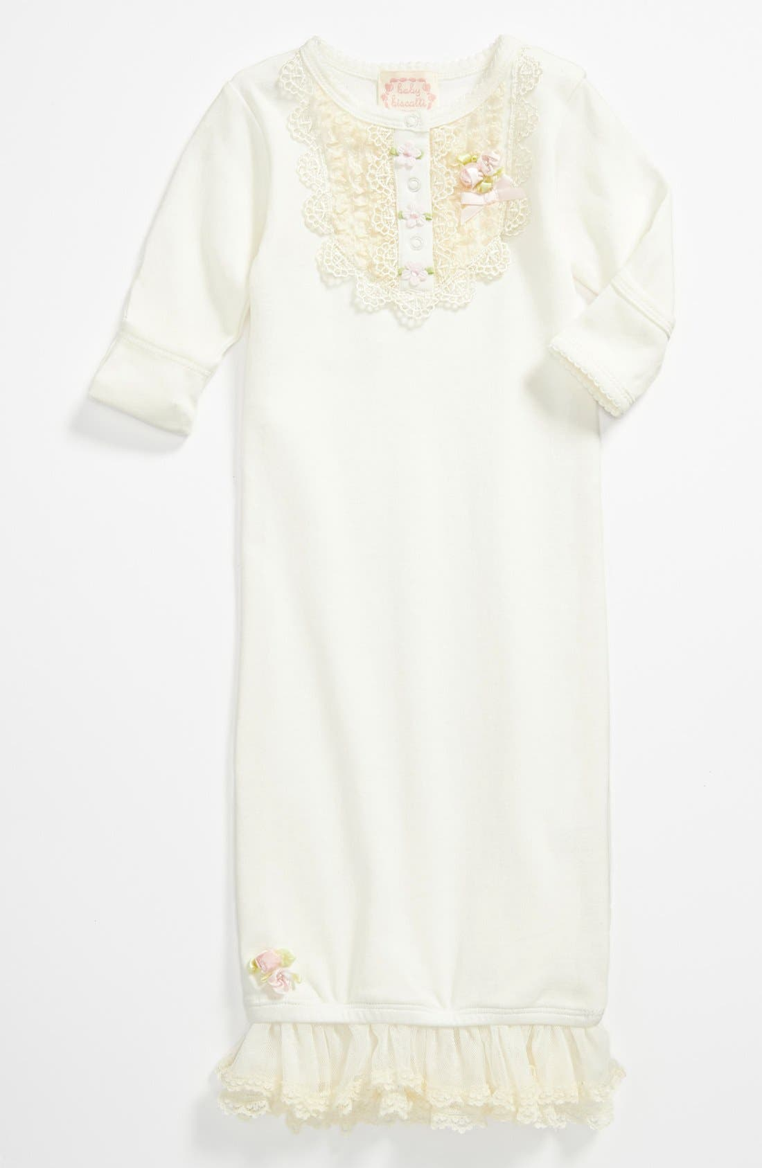 Alternate Image 1 Selected - Biscotti Lace Gown (Baby)