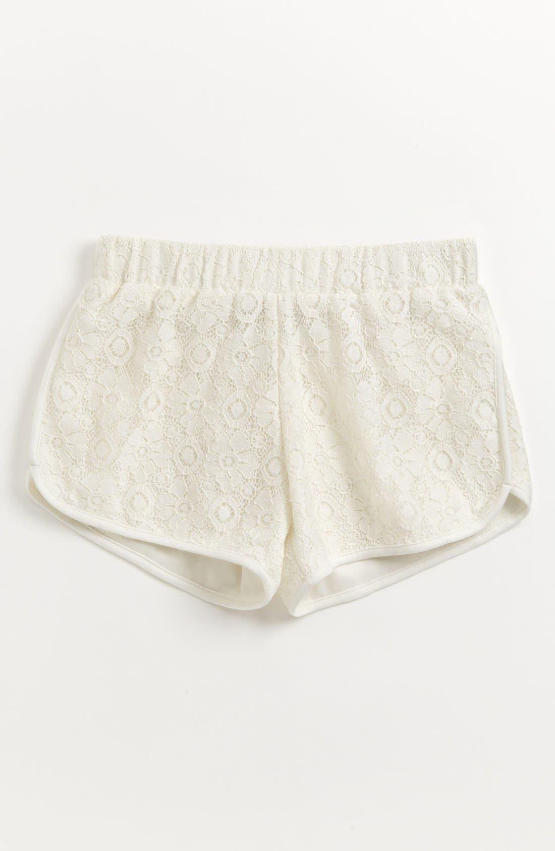 Alternate Image 1 Selected - Mia Chica Dolphin Hem Shorts (Big Girls)
