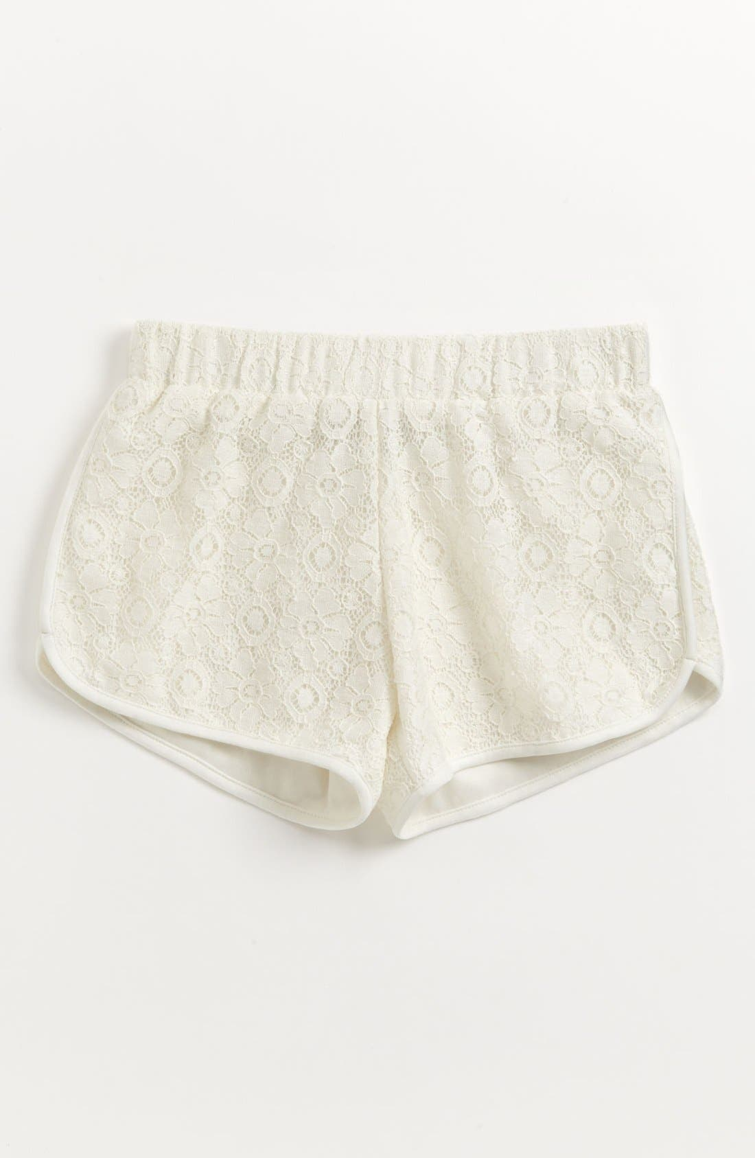 Main Image - Mia Chica Dolphin Hem Shorts (Big Girls)