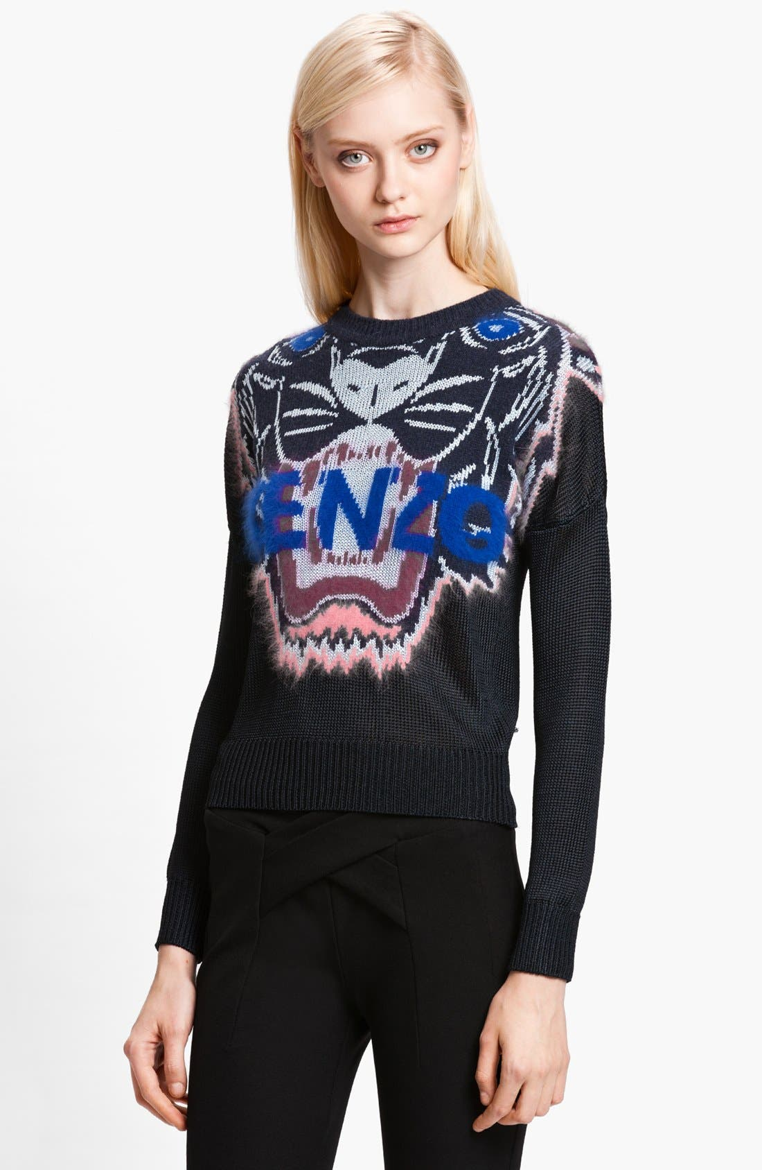 Alternate Image 1 Selected - KENZO Tiger Intarsia Stitch Sweater