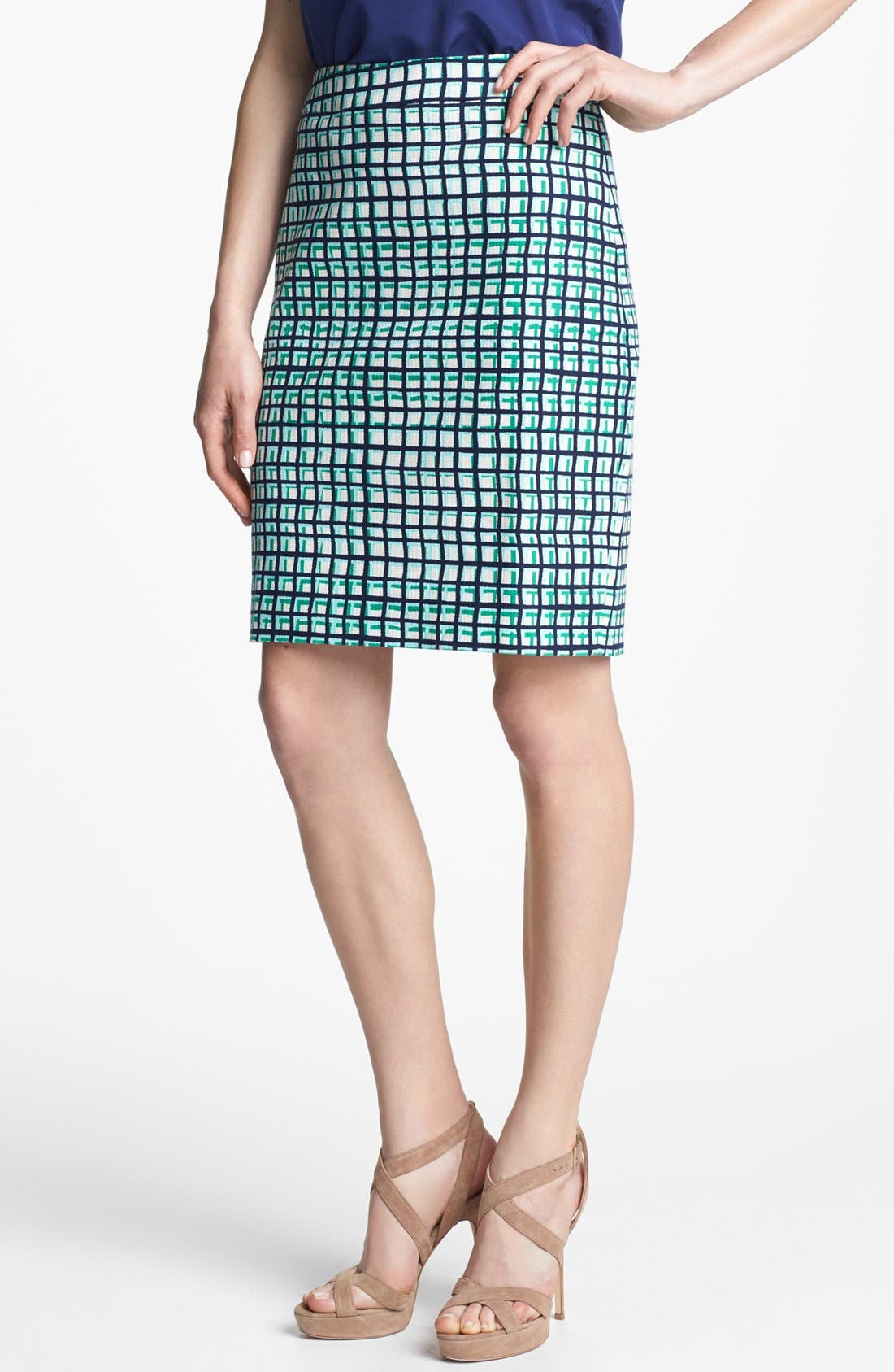 Main Image - kate spade new york 'judy' check pencil skirt
