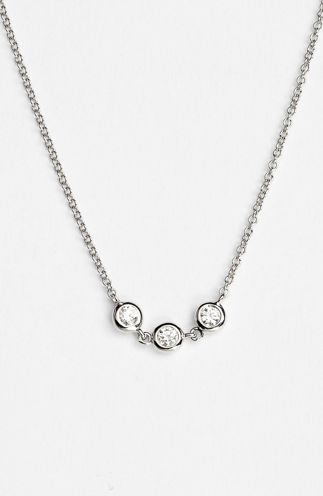 Main Image - Bony Levy Triple Diamond Necklace (Nordstrom Exclusive)